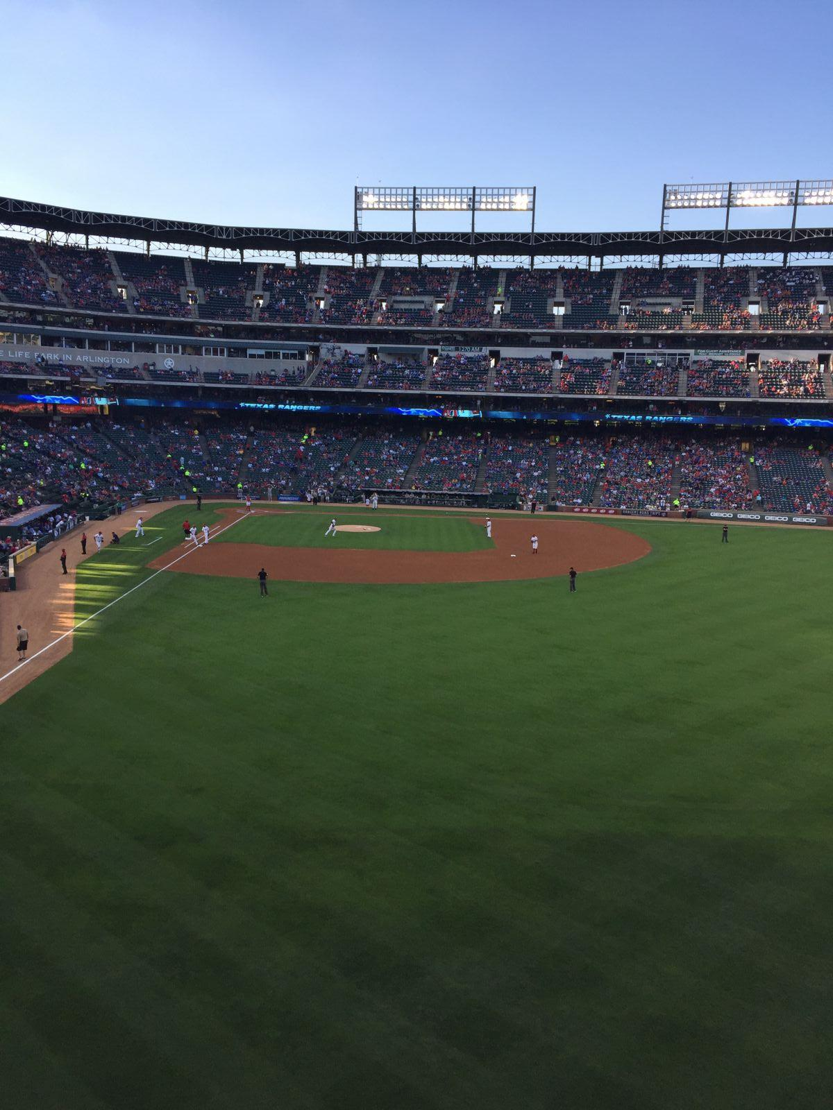 Seat View for Globe Life Park Section 247, Row 1, Seat 13
