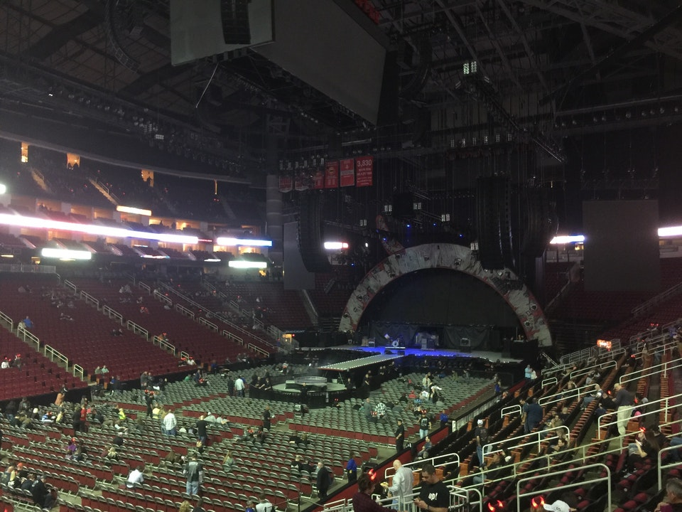 Concert Seat View for Toyota Center Section 111, Row 16