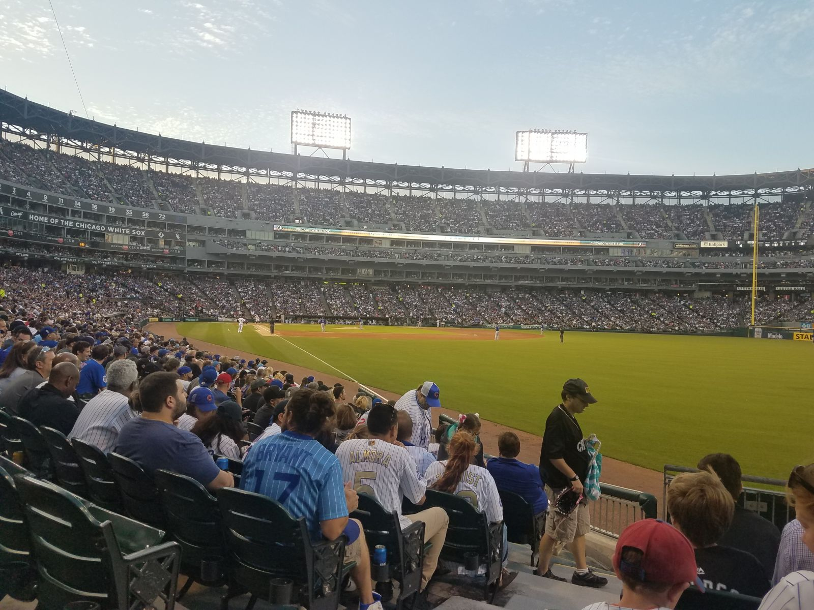 Seat View for Guaranteed Rate Field Section 109, Row 12