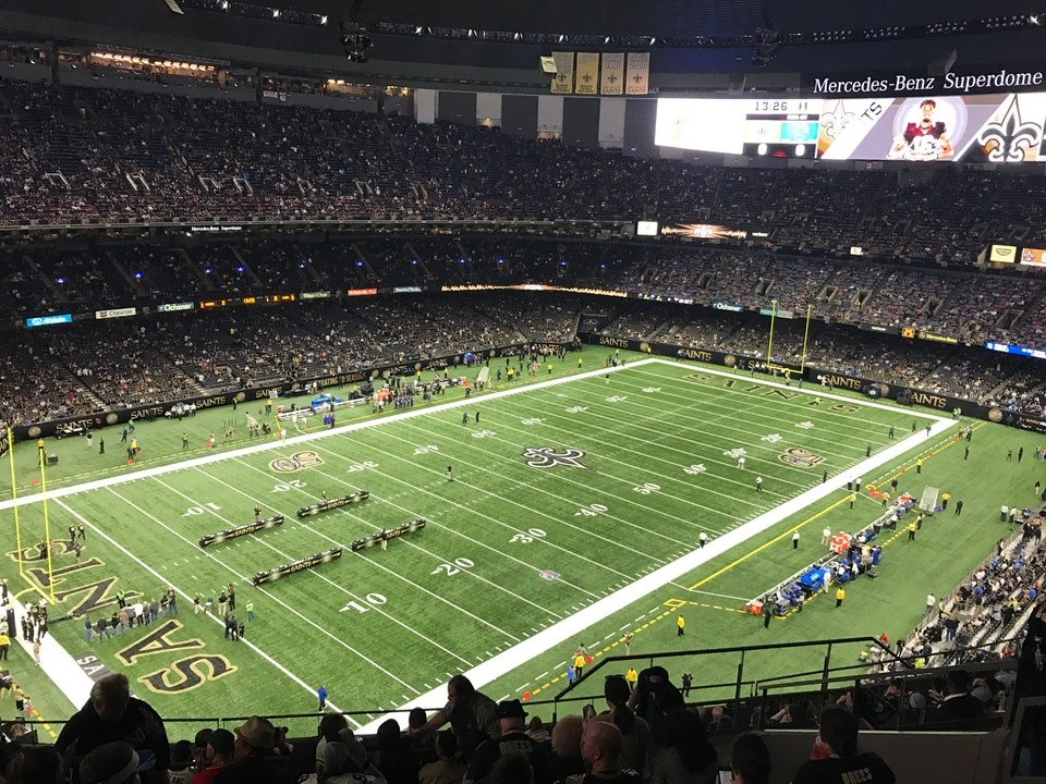 Superdome section 621 new orleans saints for Mercedes benz superdome club level seating