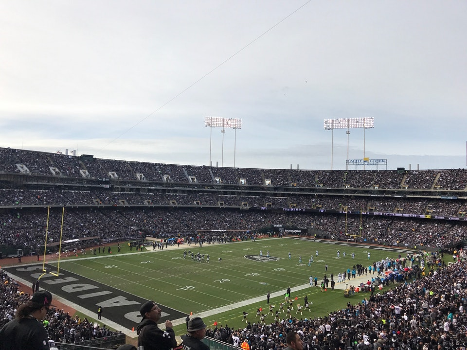 Oakland Raiders Seat View for Oakland Coliseum Section 249