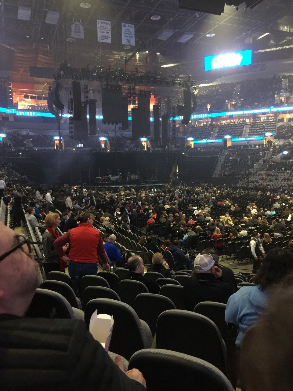 Concert Seat View for AT&T Center Section 104, Row 15