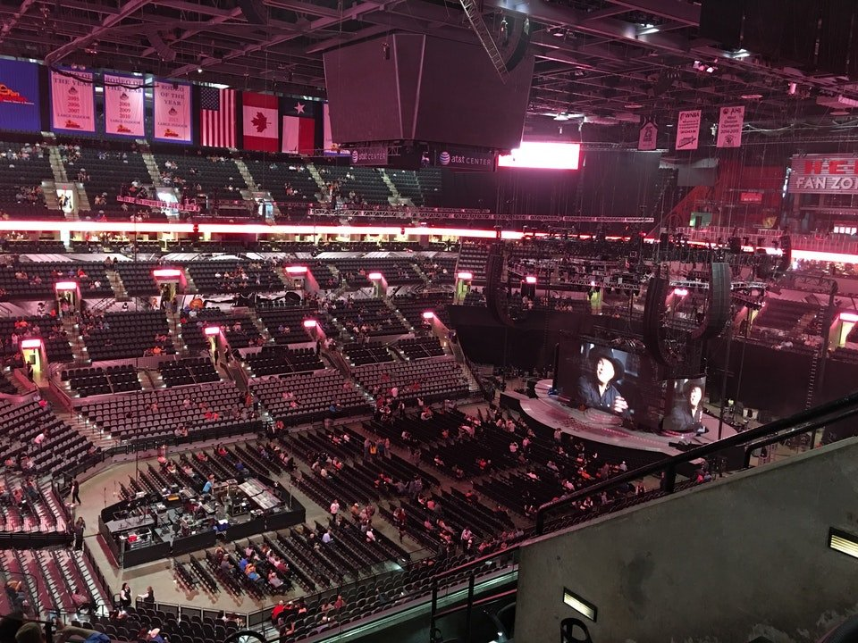 Concert Seat View for AT&T Center Section 226, Row 5