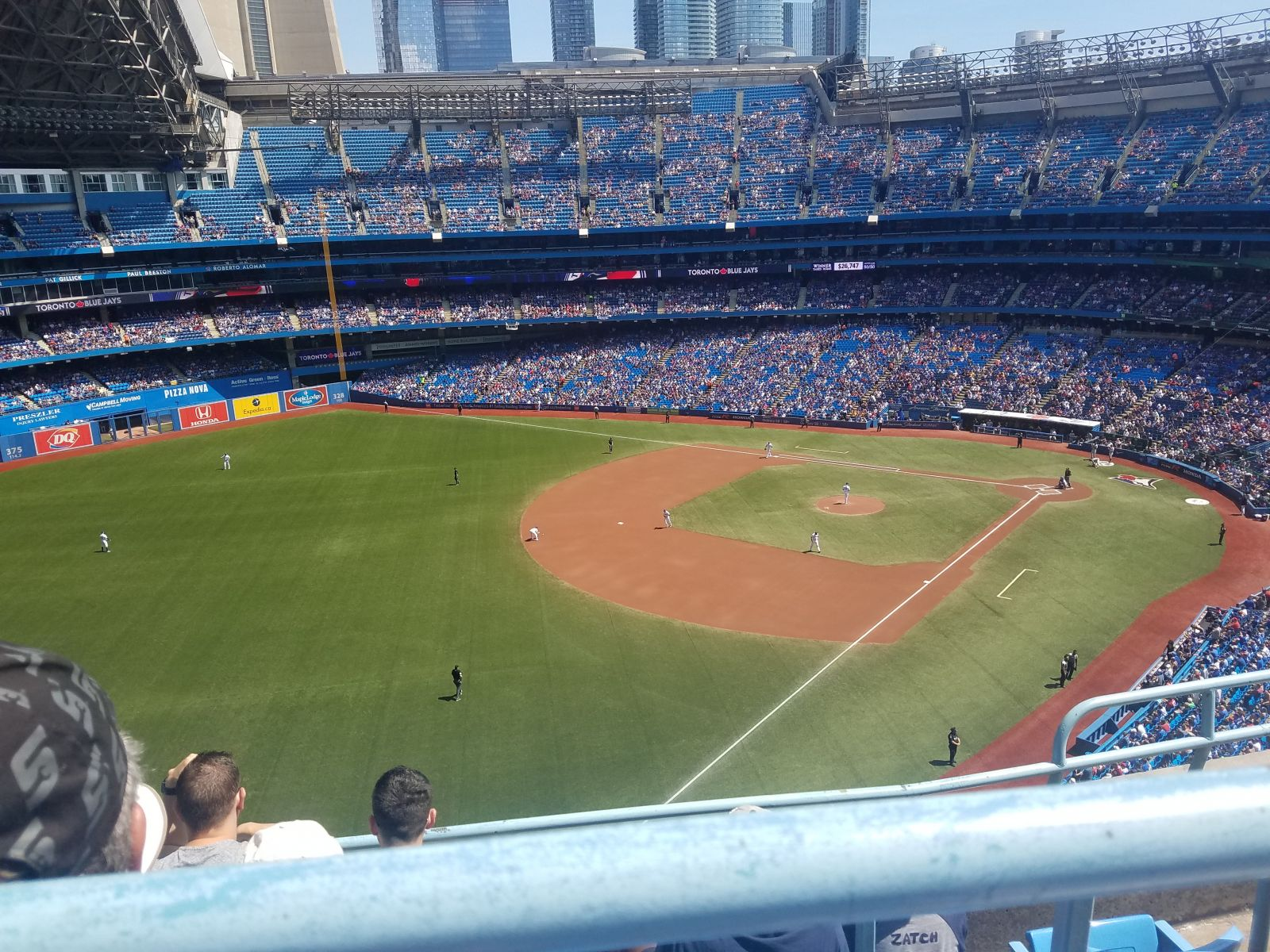Seat View for Rogers Centre Section 536, Row 4