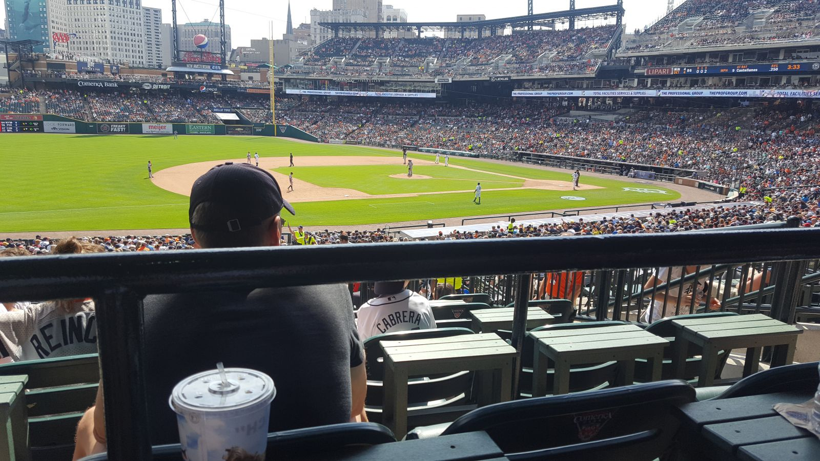 Seat View for Comerica Park Terrace 137, Row E, Seat 5