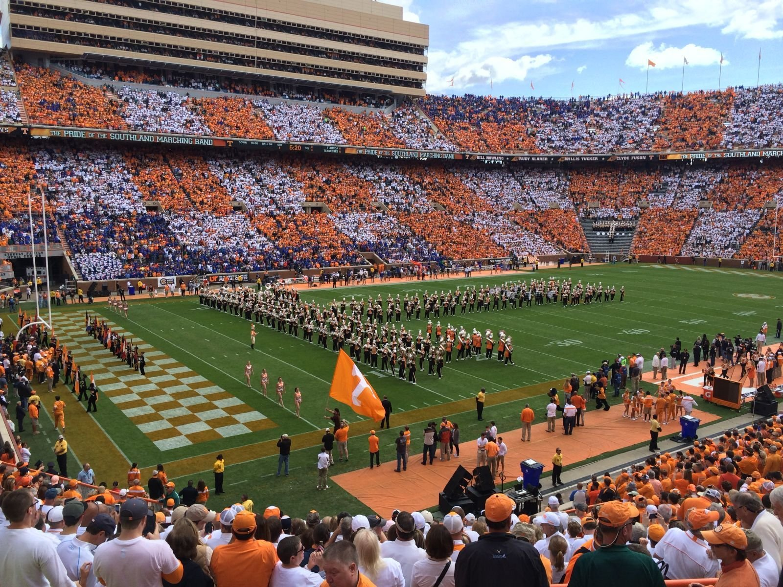 Seat View for Neyland Stadium Section X3, Row 23, Seat 3