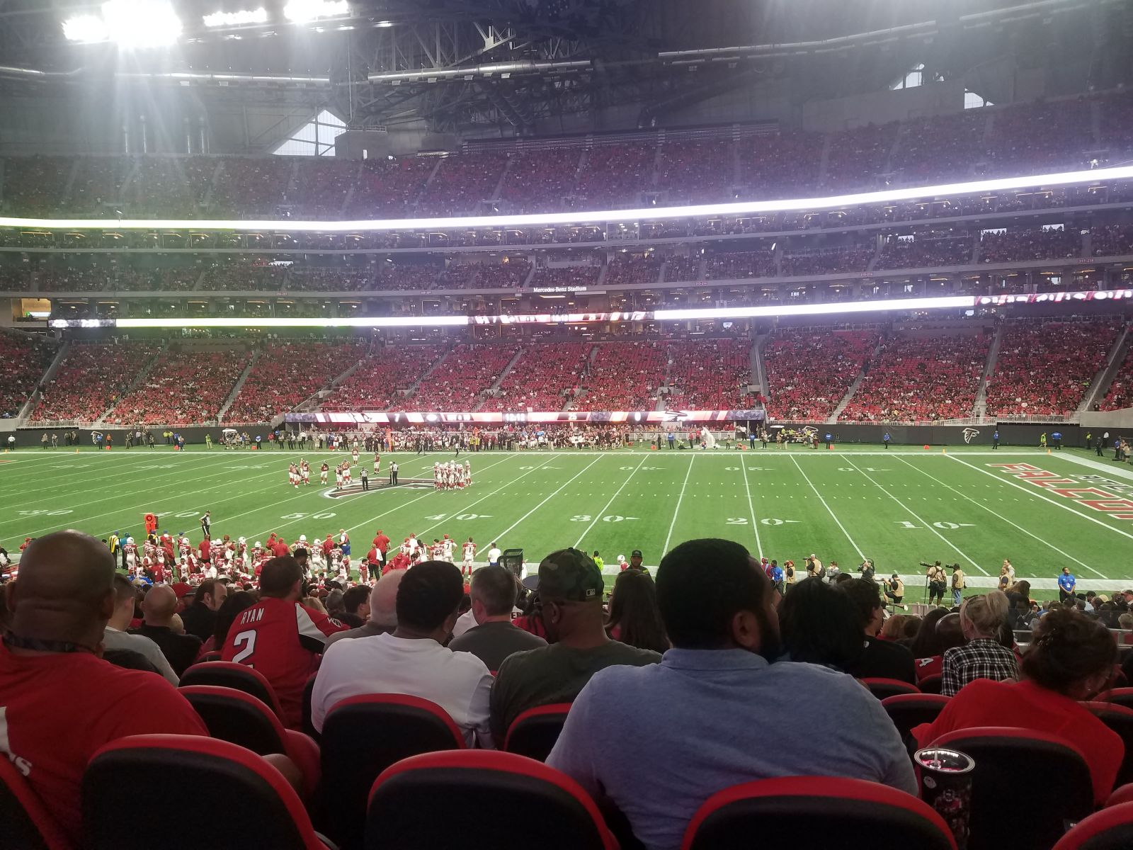 Great seats mercedes benz stadium club 126 review for Mercedes benz stadium interactive seating chart