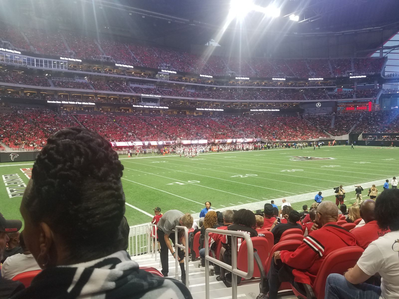Atlanta Falcons Seat View for Mercedes-Benz Stadium Section 115, Row 13