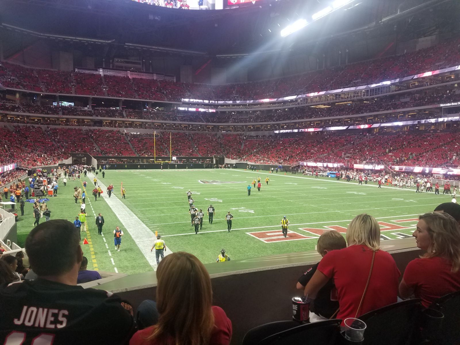 Atlanta Falcons Seat View for Mercedes-Benz Stadium Section 103, Row 16