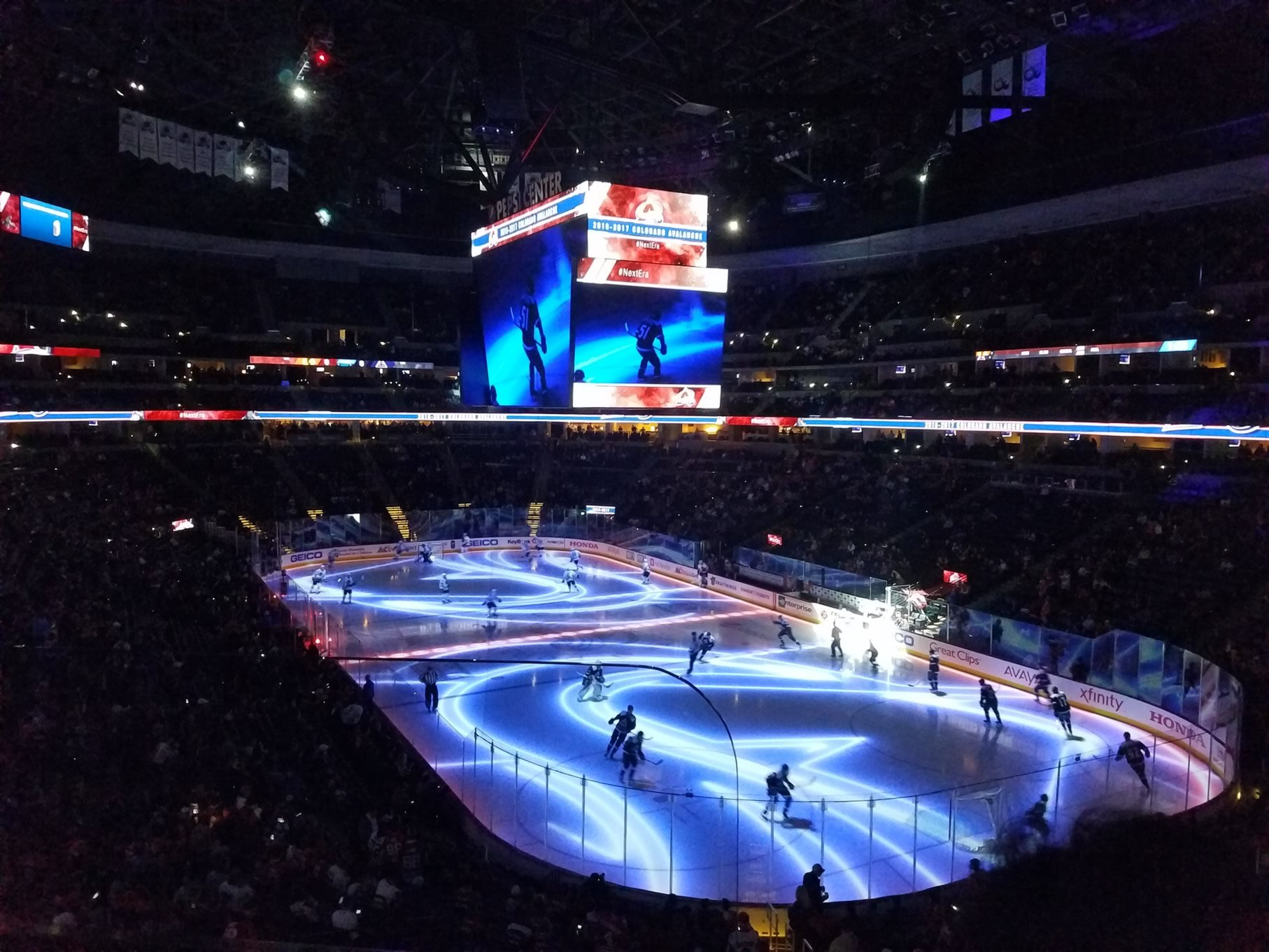 Colorado Avalanche Seat View for Pepsi Center Section 220, Row 2