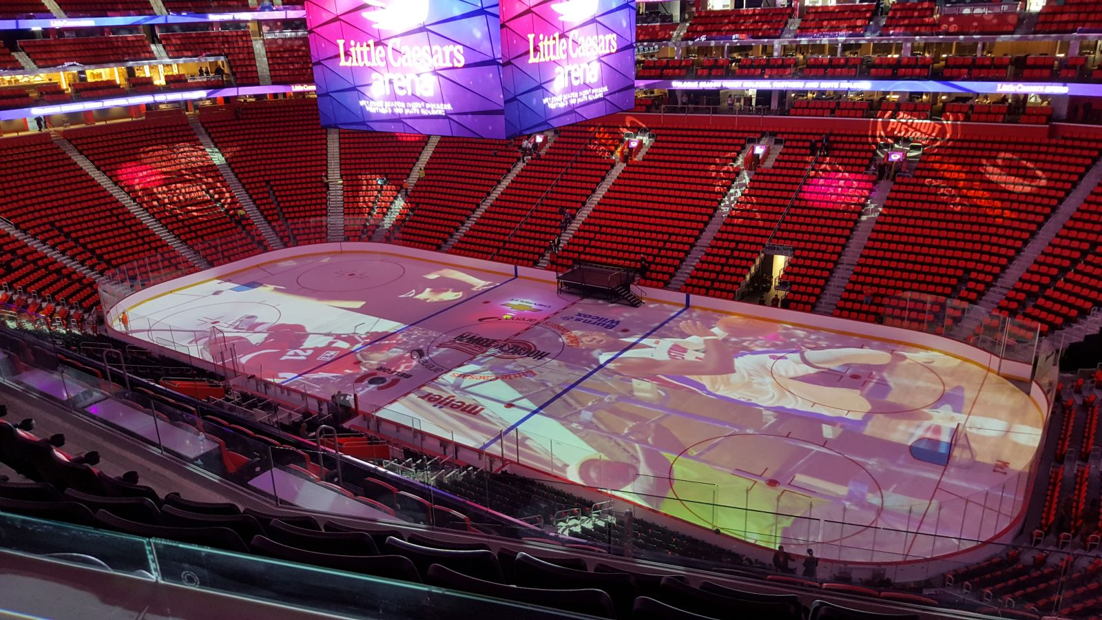 Detroit Red Wings Seat View for Little Caesars Arena Mezzanine 24, Row 5, Seat 1