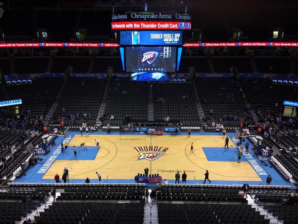 Chesapeake Energy Arena Section 106 Oklahoma City Thunder Rateyourseats