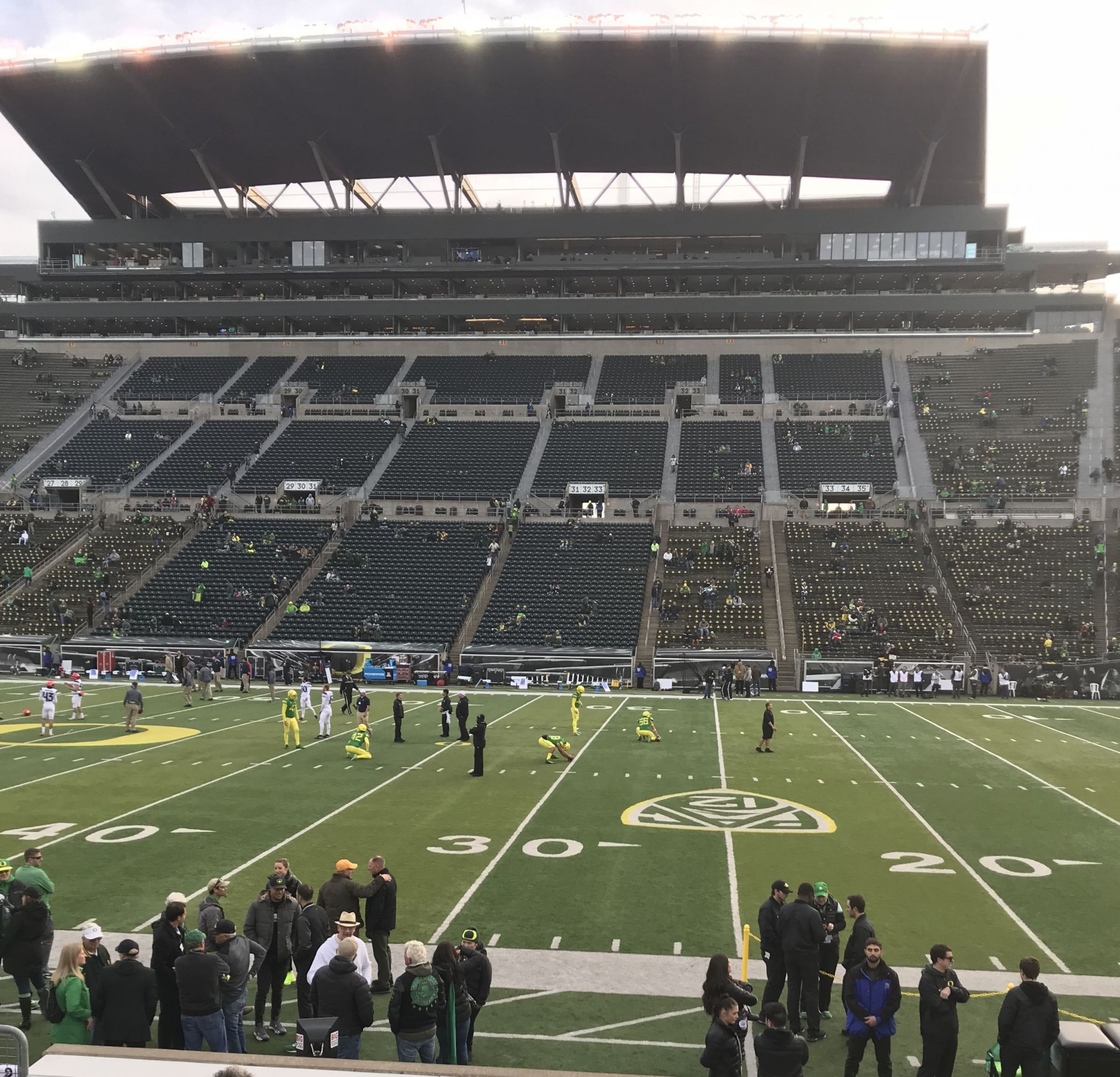 Seat View for Autzen Stadium Section 9, Row 13, Seat 9