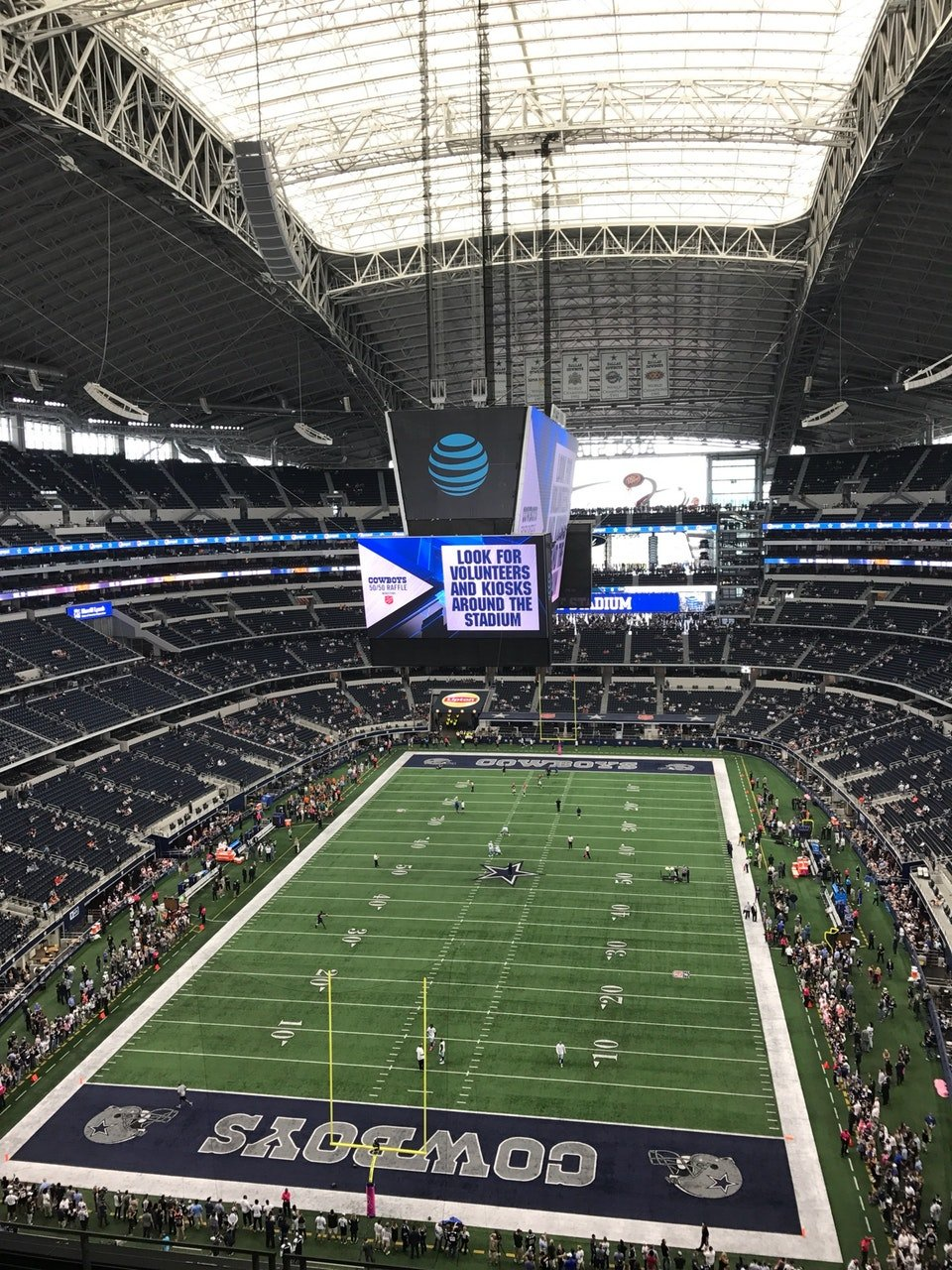 Dallas Cowboys Seat View for AT&T Stadium Section 425
