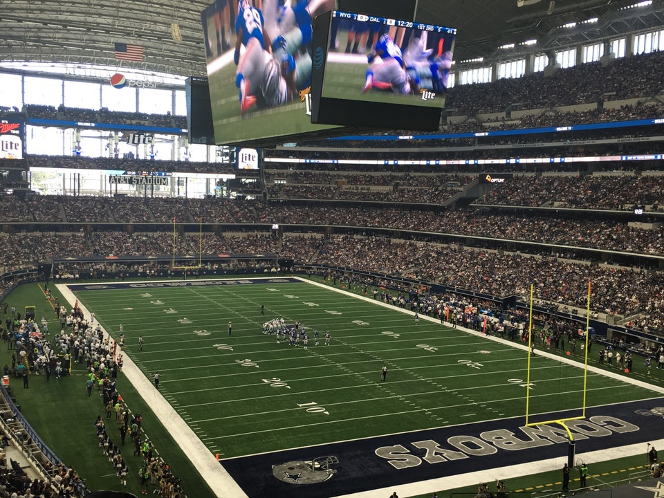 Dallas Cowboys Seat View For At T Stadium Section 201