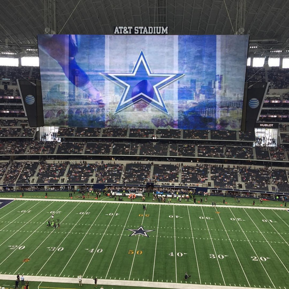 Dallas Cowboys Seat View for AT&T Stadium Section 412, Row 2