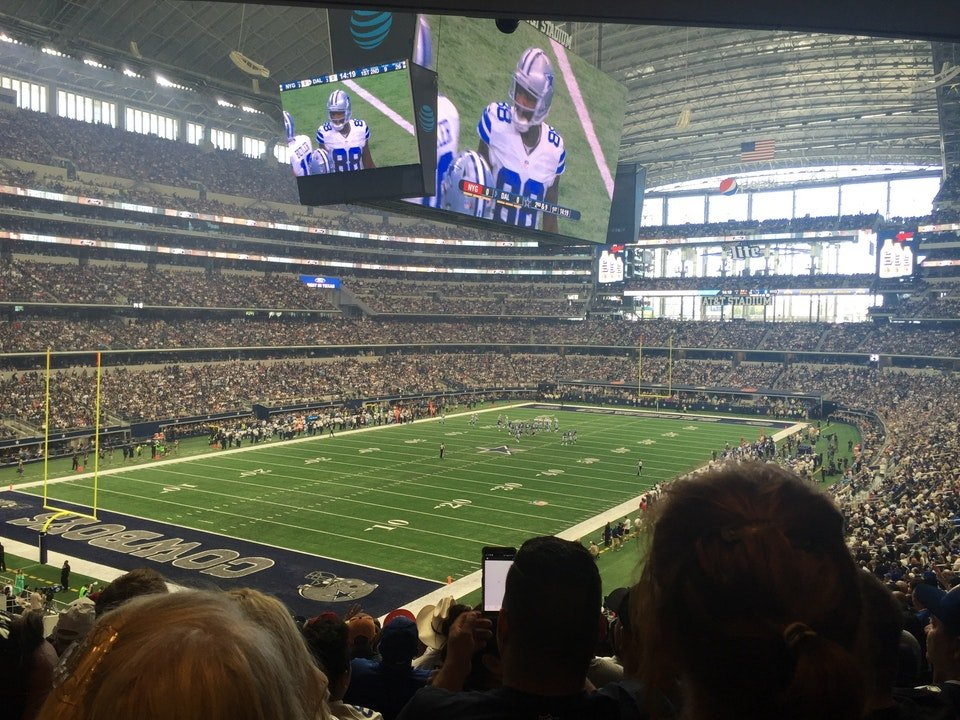 Dallas Cowboys Seat View for AT&T Stadium Section 243