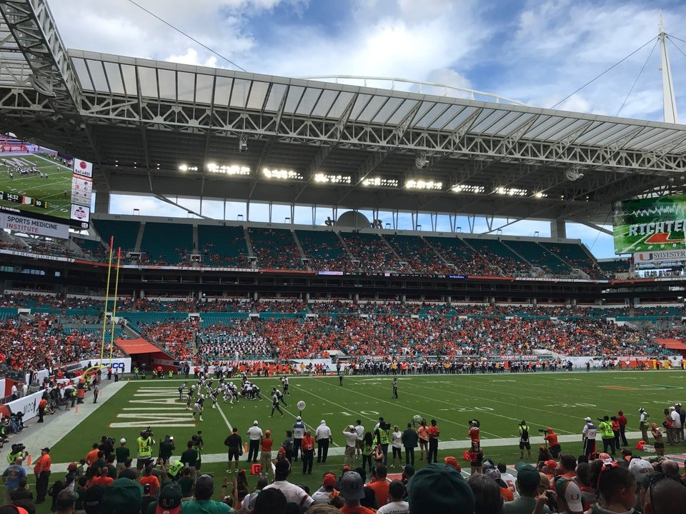 Section 150 at Hard Rock Stadium - Miami Dolphins ...