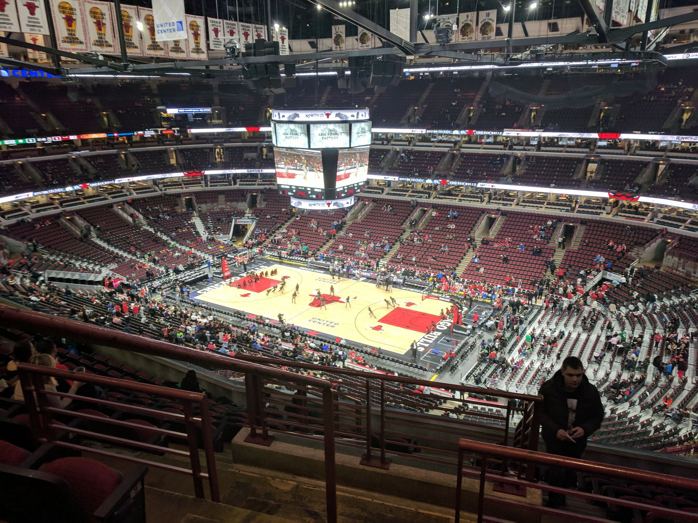 Chicago Bulls Seat View for United Center Section 314, Row 11, Seat 21