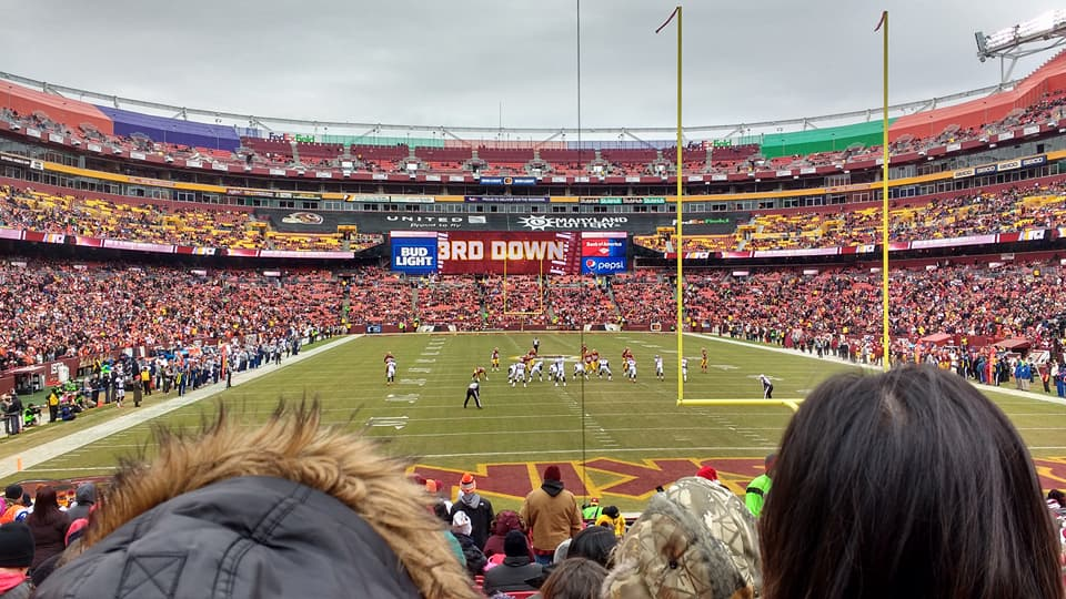 Seat View for FedExField Section 112, Row 19, Seat 8