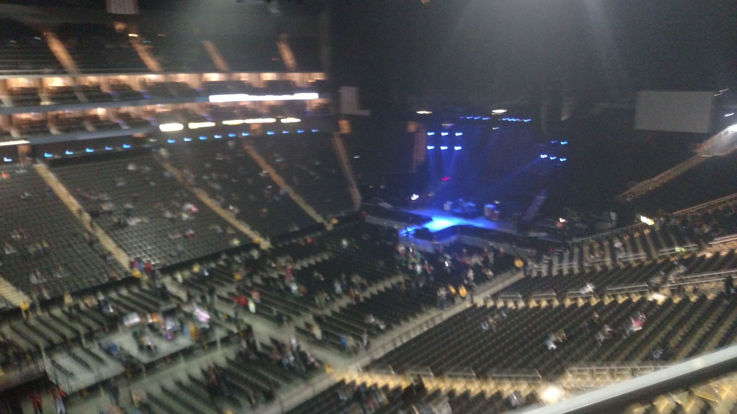 Concert Seat View for Sprint Center Section 227, Row 1, Seat 16