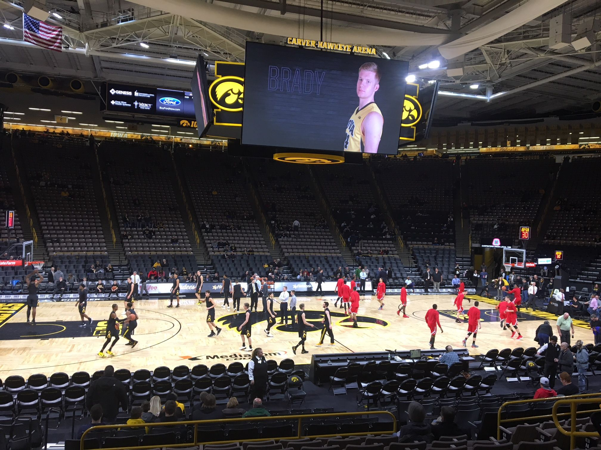 Seat View for Carver-Hawkeye Arena Section N, Row 15, Seat 7