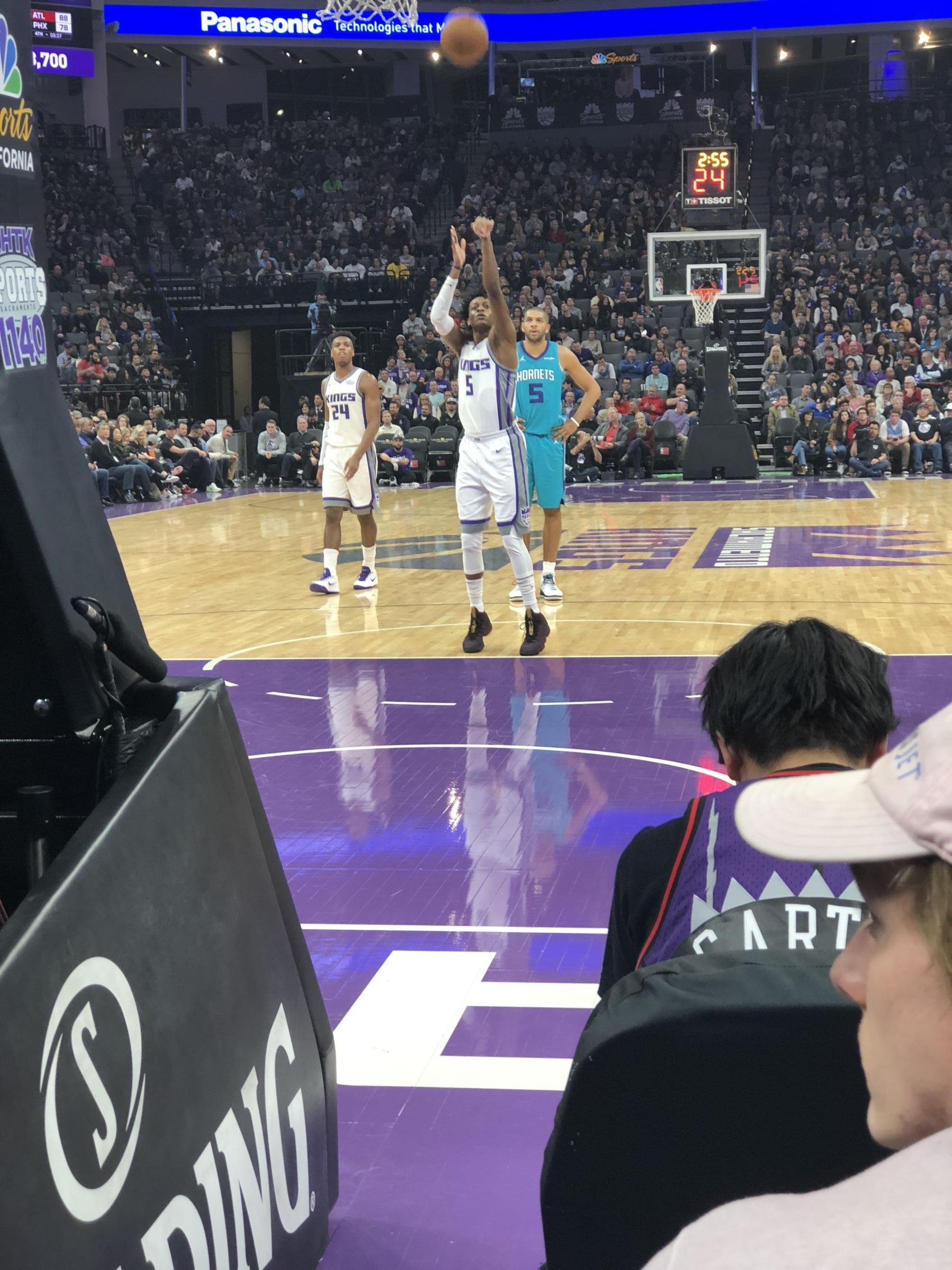 Courtside 4 seat view