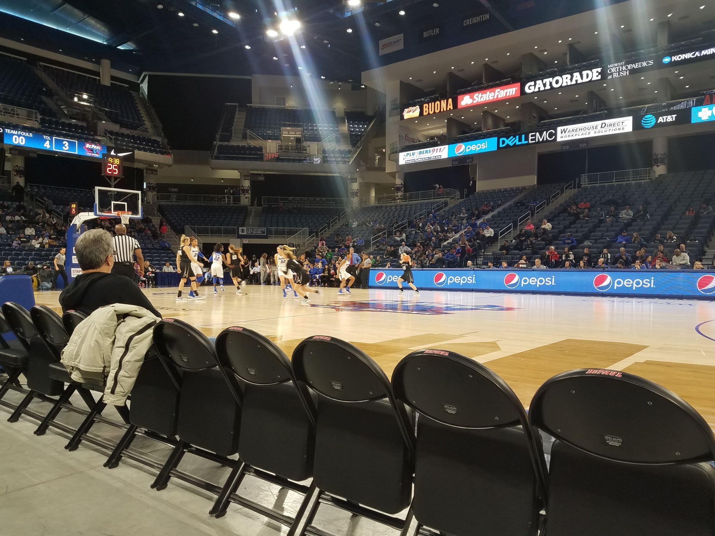 Exterior: Wintrust Arena Section 123