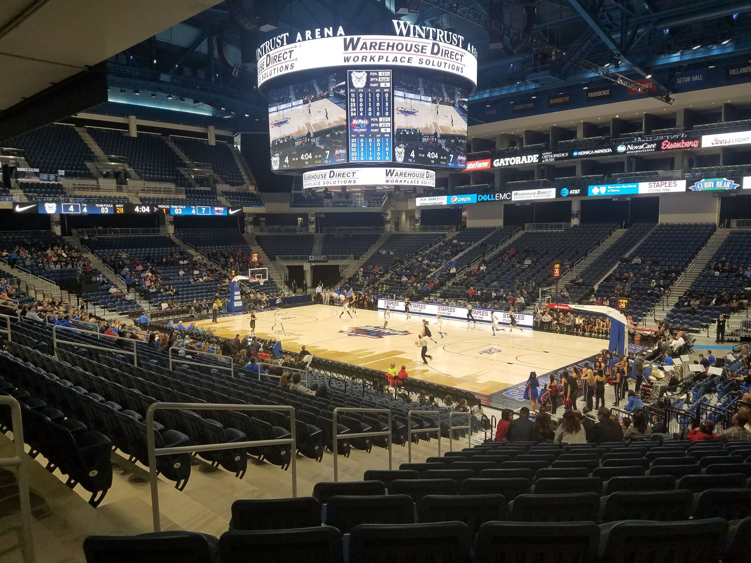 Seat View for Wintrust Arena Section 121, Row S, Seat 13