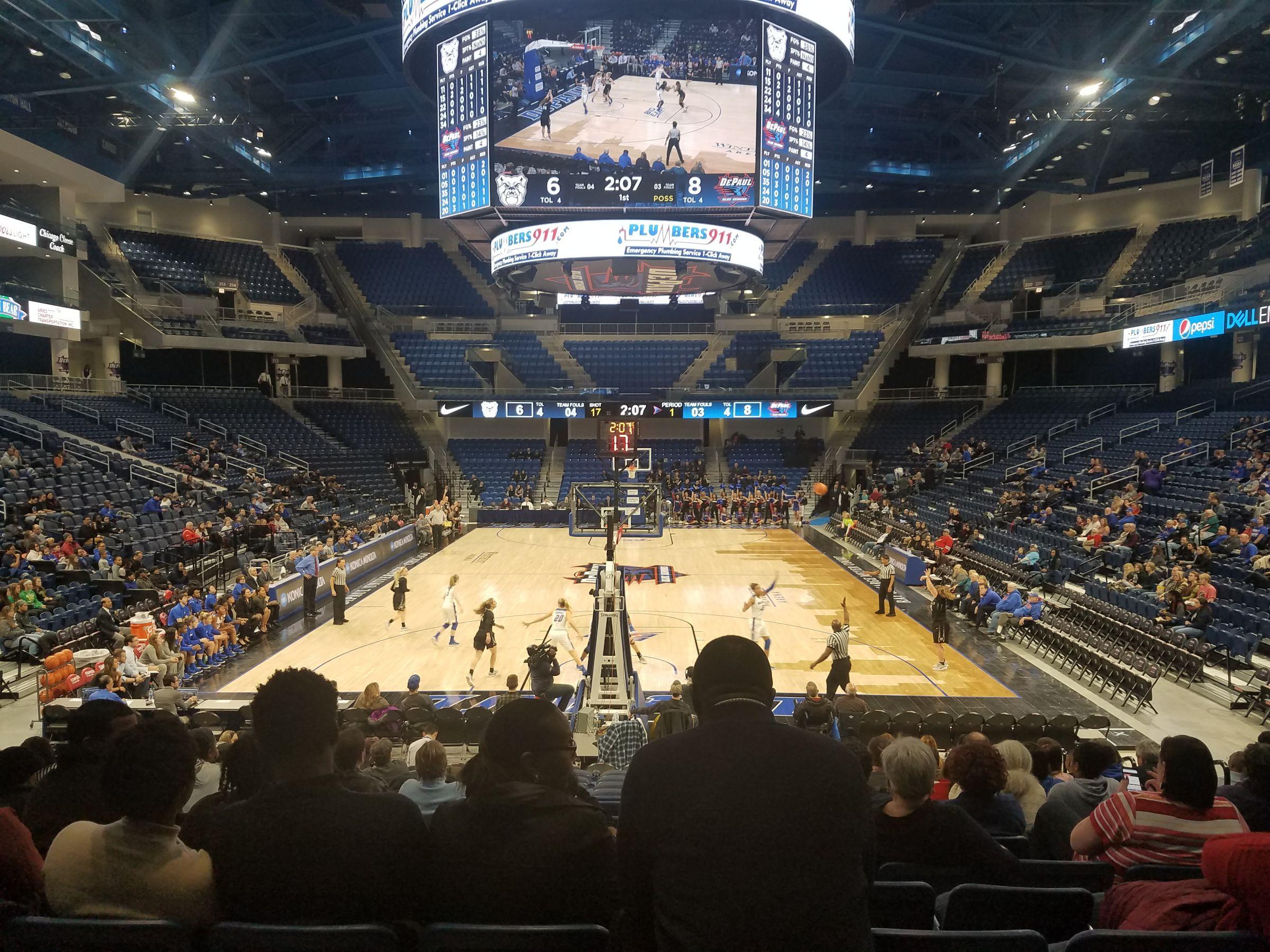 Exterior: Wintrust Arena Section 102