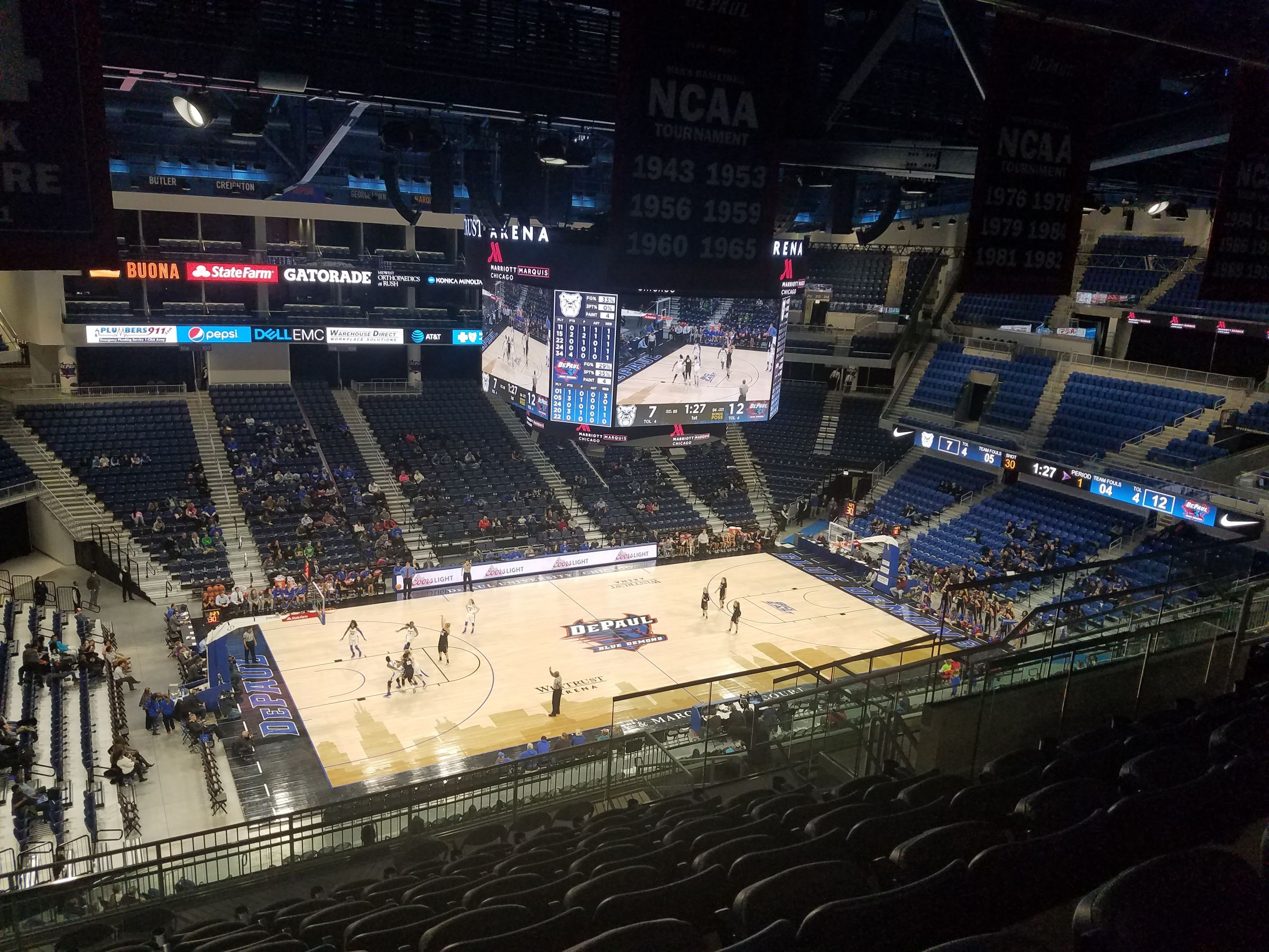 Seat View for Wintrust Arena Section 227, Row N, Seat 12