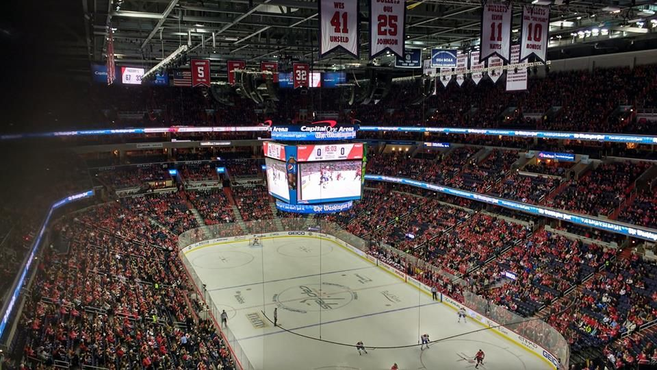 Washington Capitals Seat View for Capital One Arena Section 423, Row F, Seat 13