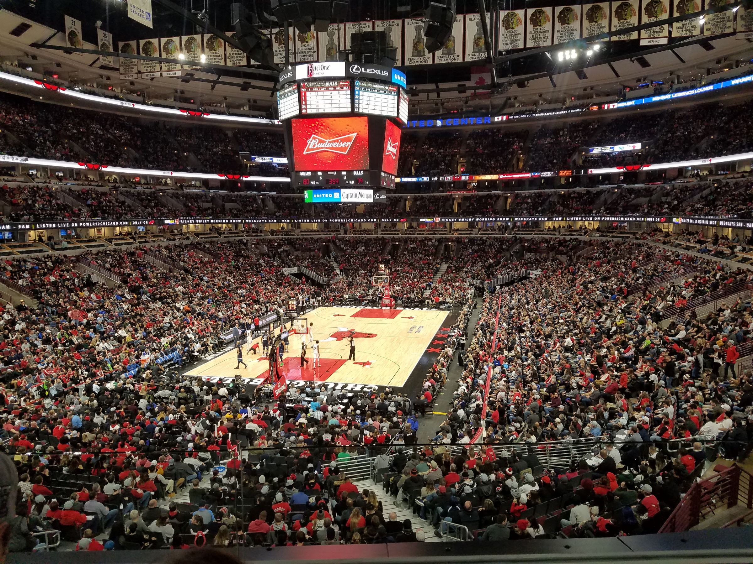 Chicago Bulls Seat View for United Center Section 224, Row 2, Seat 9