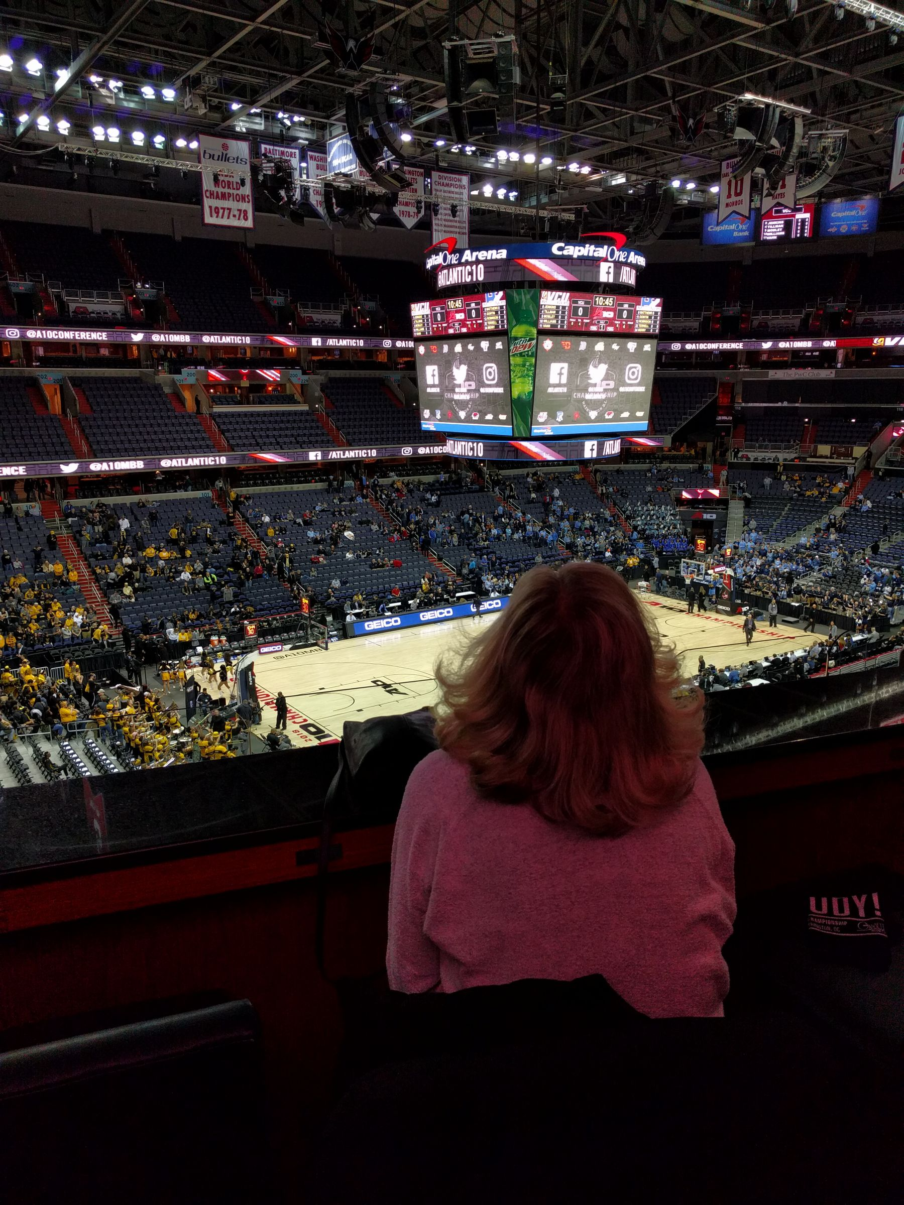 Basketball Seat View for Capital One Arena Section 213, Row A, Seat 25
