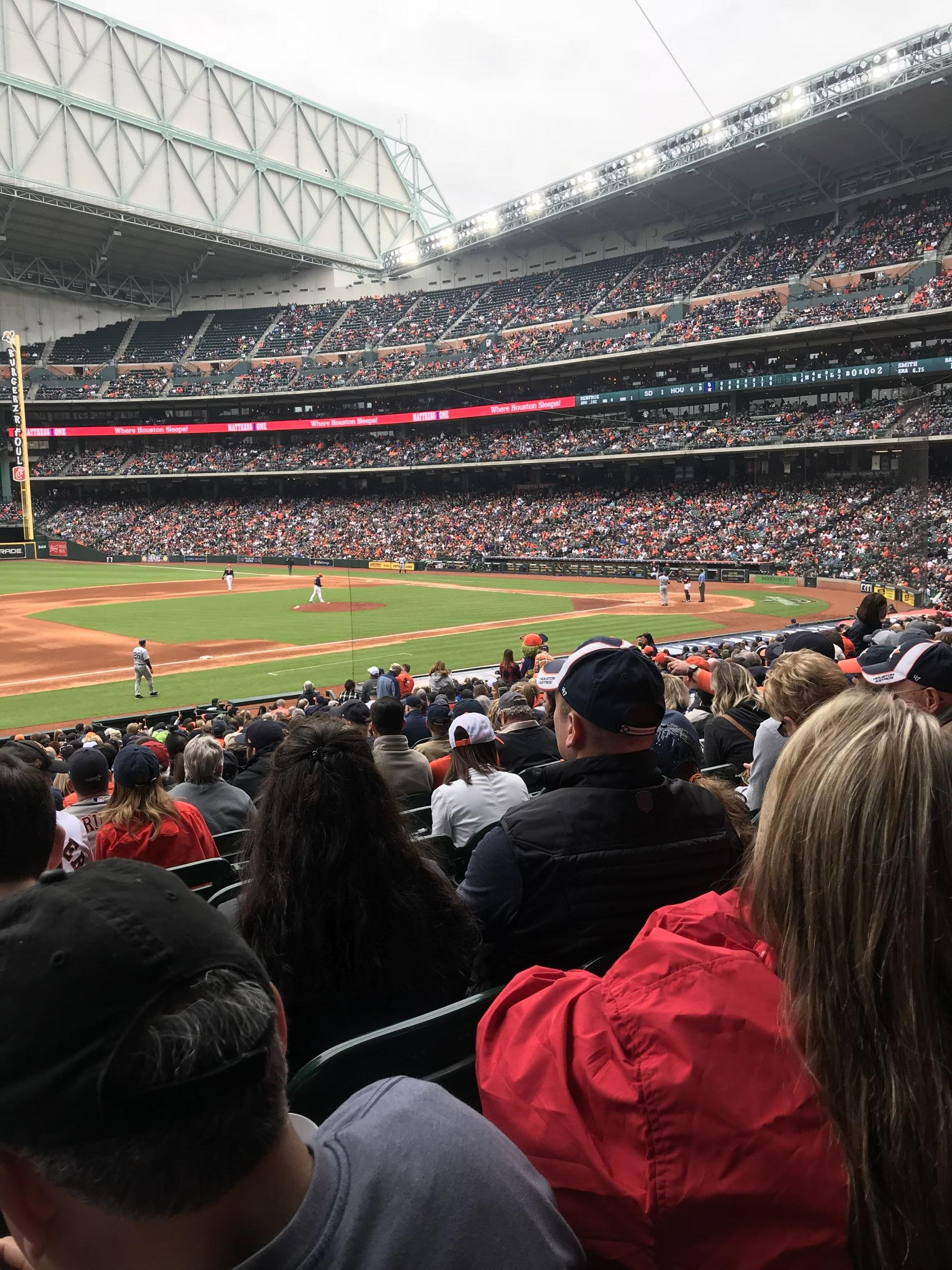 Seat View for Minute Maid Park Section 111, Row 31, Seat 1