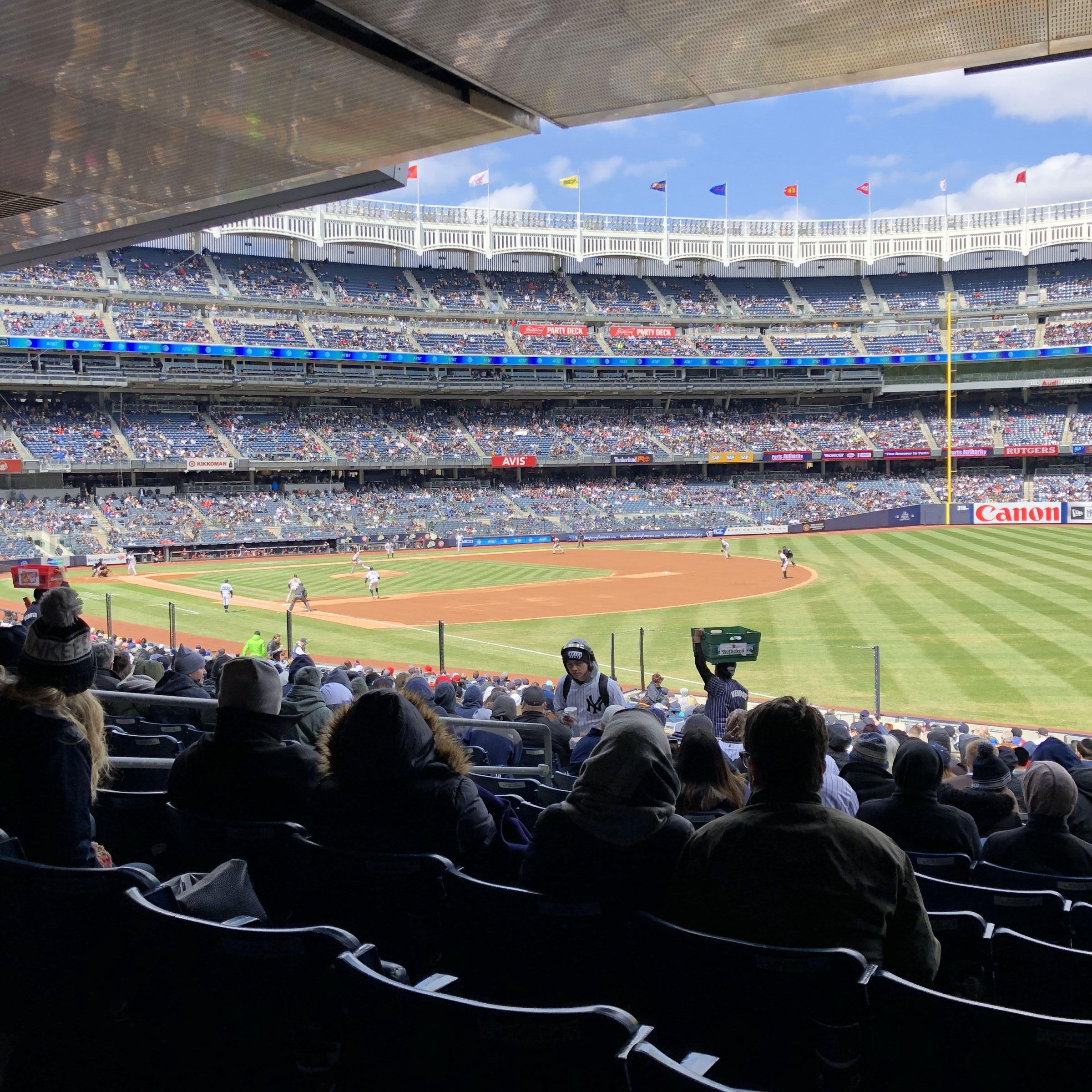 New York Yankees Seat View for Yankee Stadium Section 110, Row 28, Seat 5