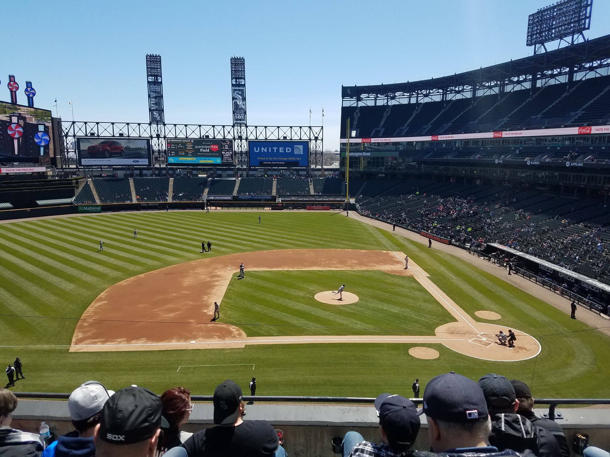 Seat View for Guaranteed Rate Field Section 338, Row 5