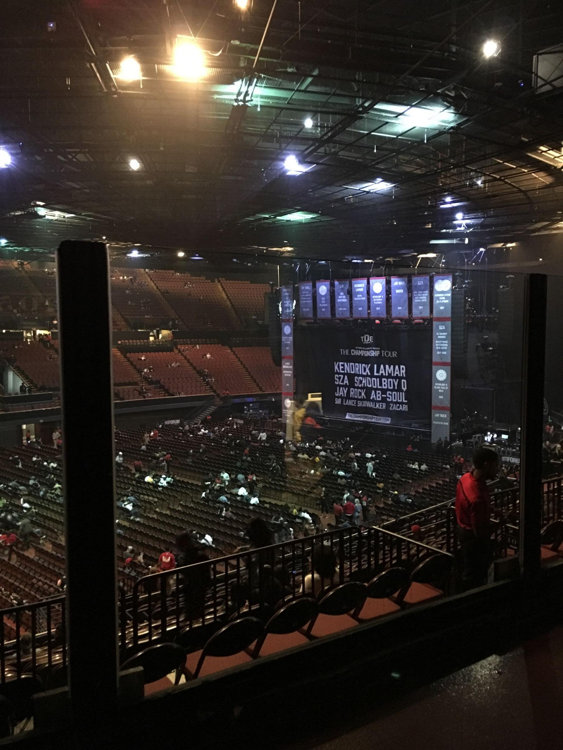 Concert Seat View for The Forum Section 205, Row 2, Seat 13