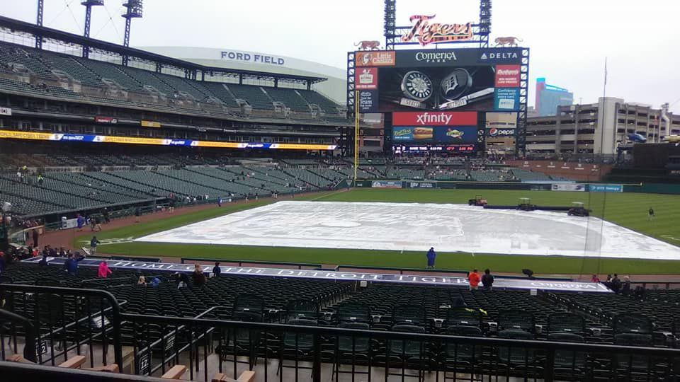 Seat View for Comerica Park Tiger Den 121, Row C, Seat 1