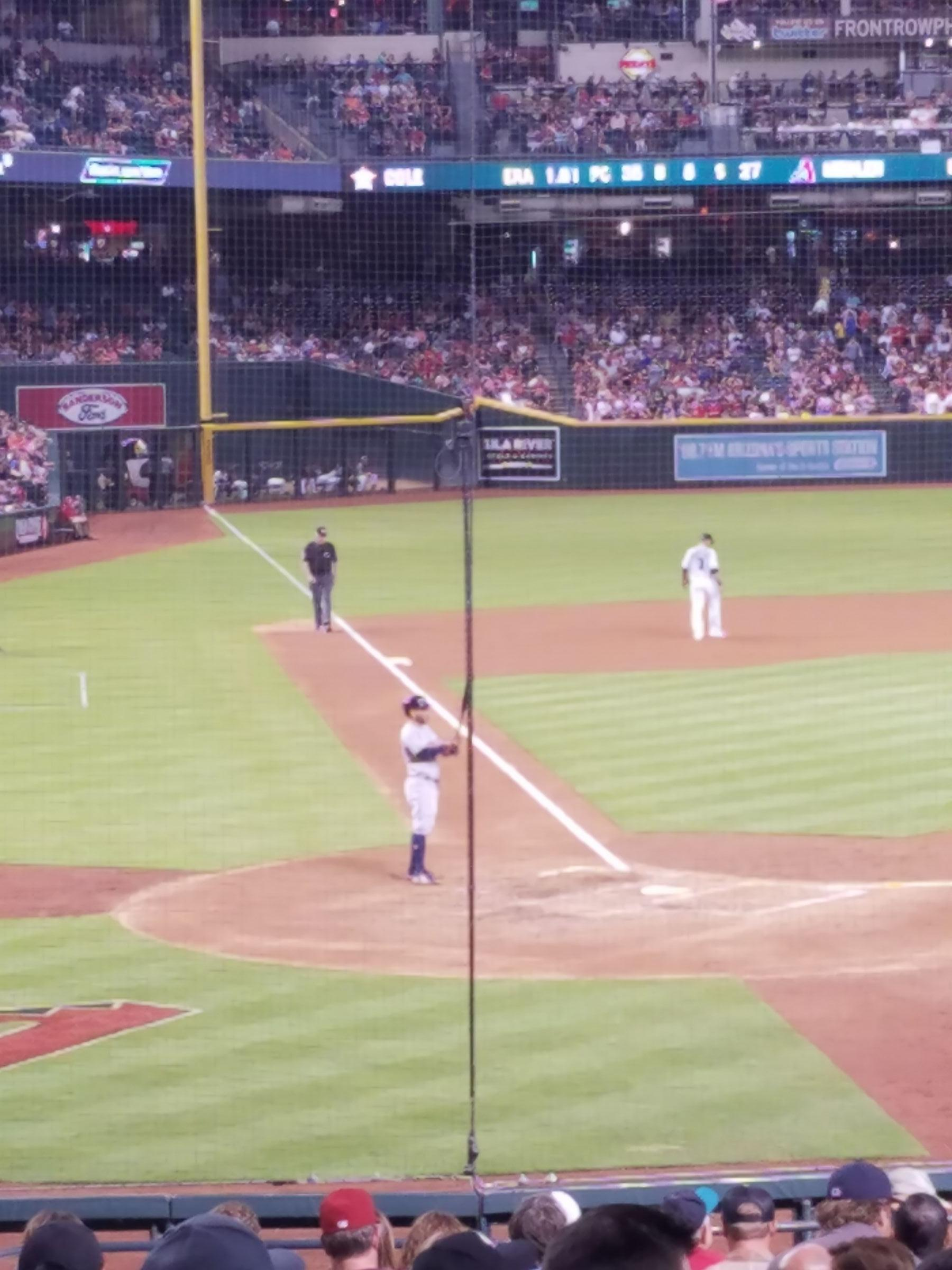Arizona Diamondbacks Seat View for Chase Field Section 119, Row 23, Seat 2