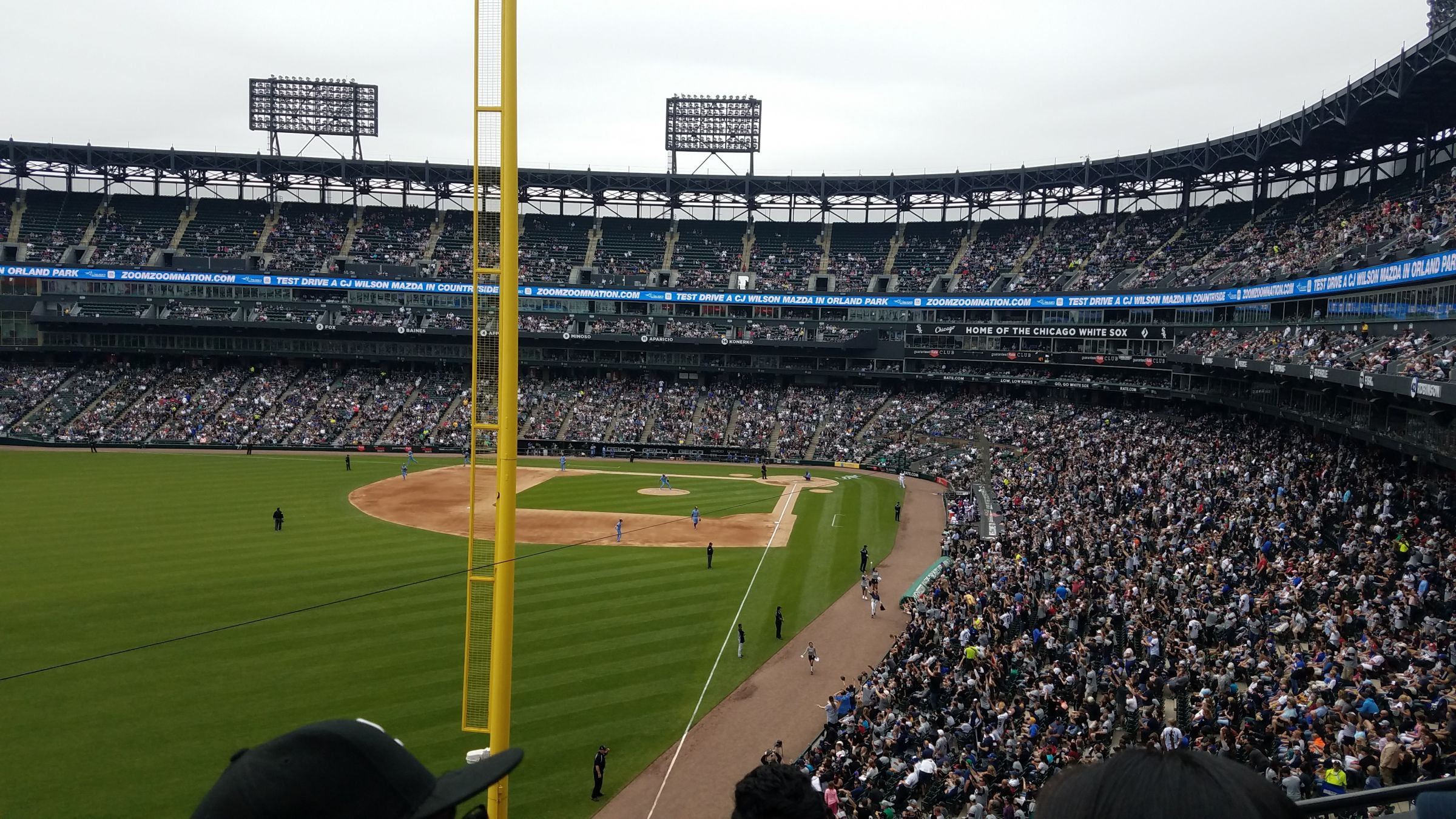 Seat View for Guaranteed Rate Field Section 356, Row 3