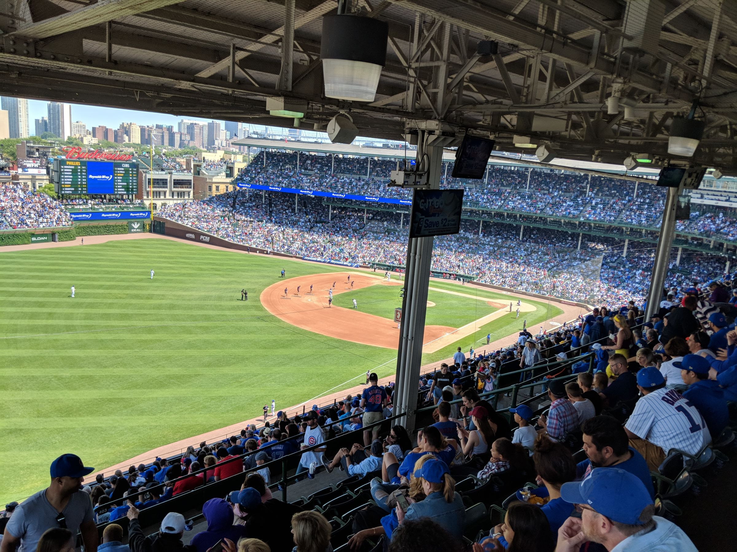 Seat View for Wrigley Field Section 403, Row 8, Seat 102