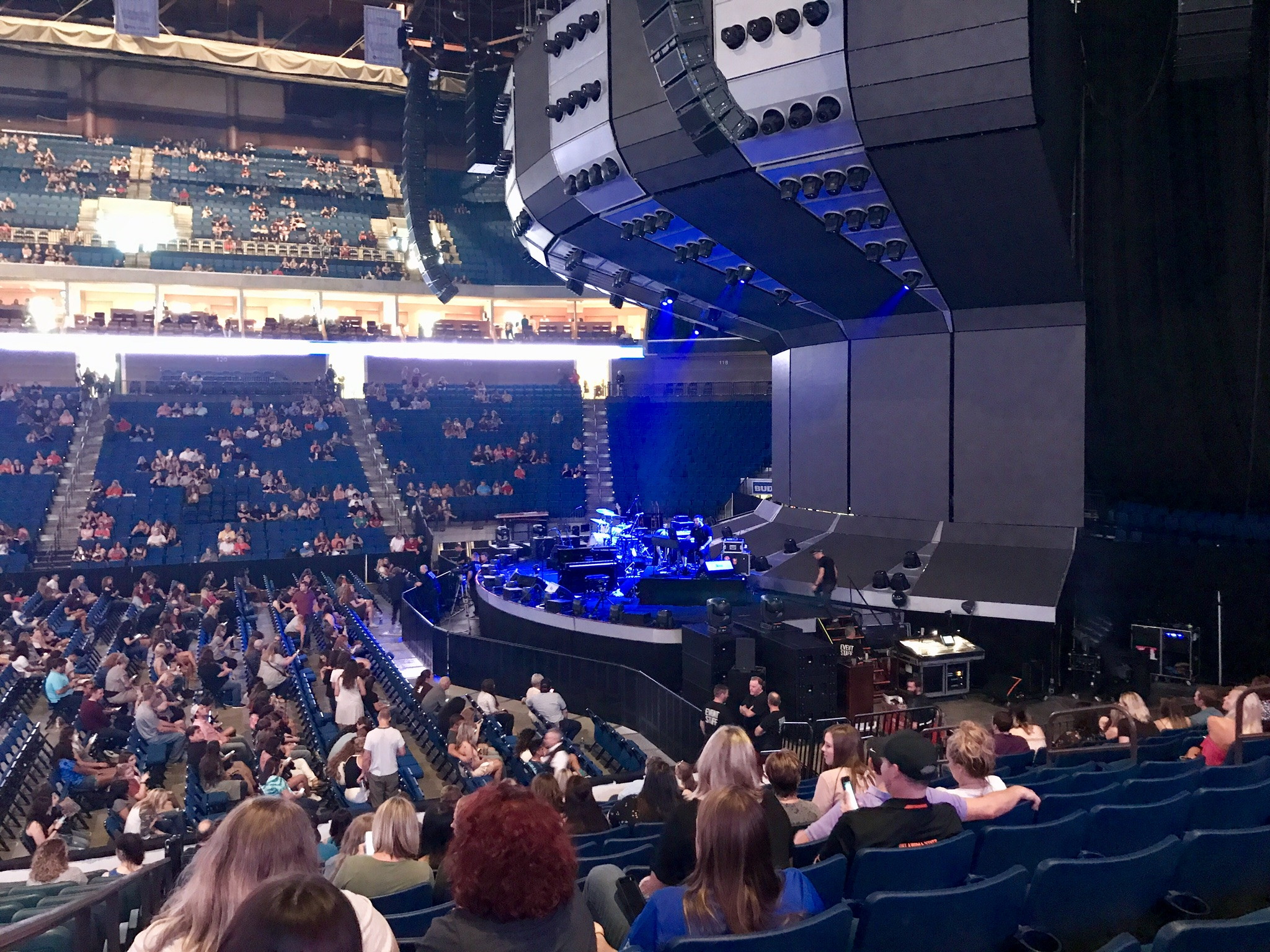 Concert Seat View for BOK Center Section 111, Row Q, Seat 11
