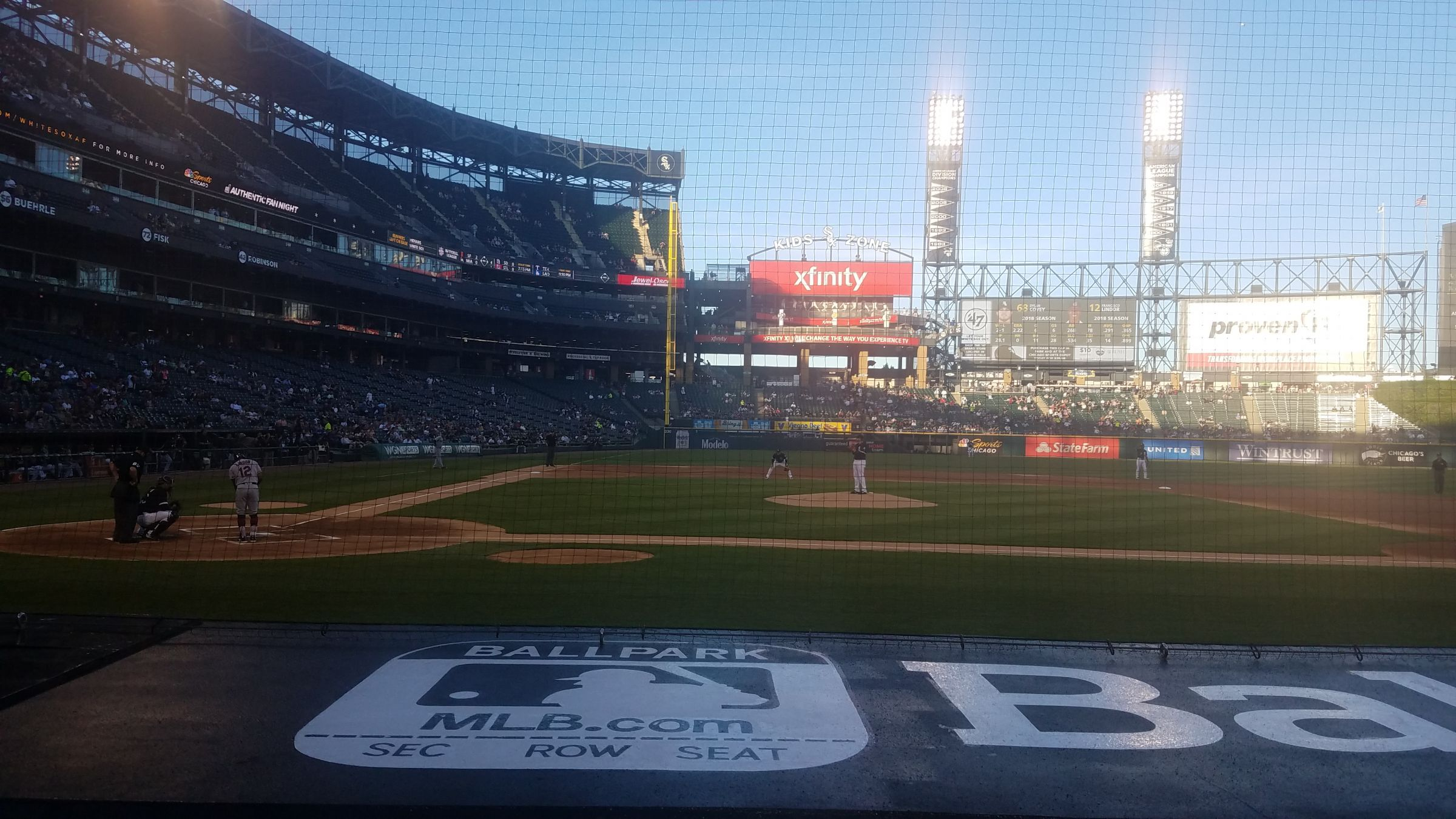 Seat View for Guaranteed Rate Field Section 127, Row 7, Seat 2