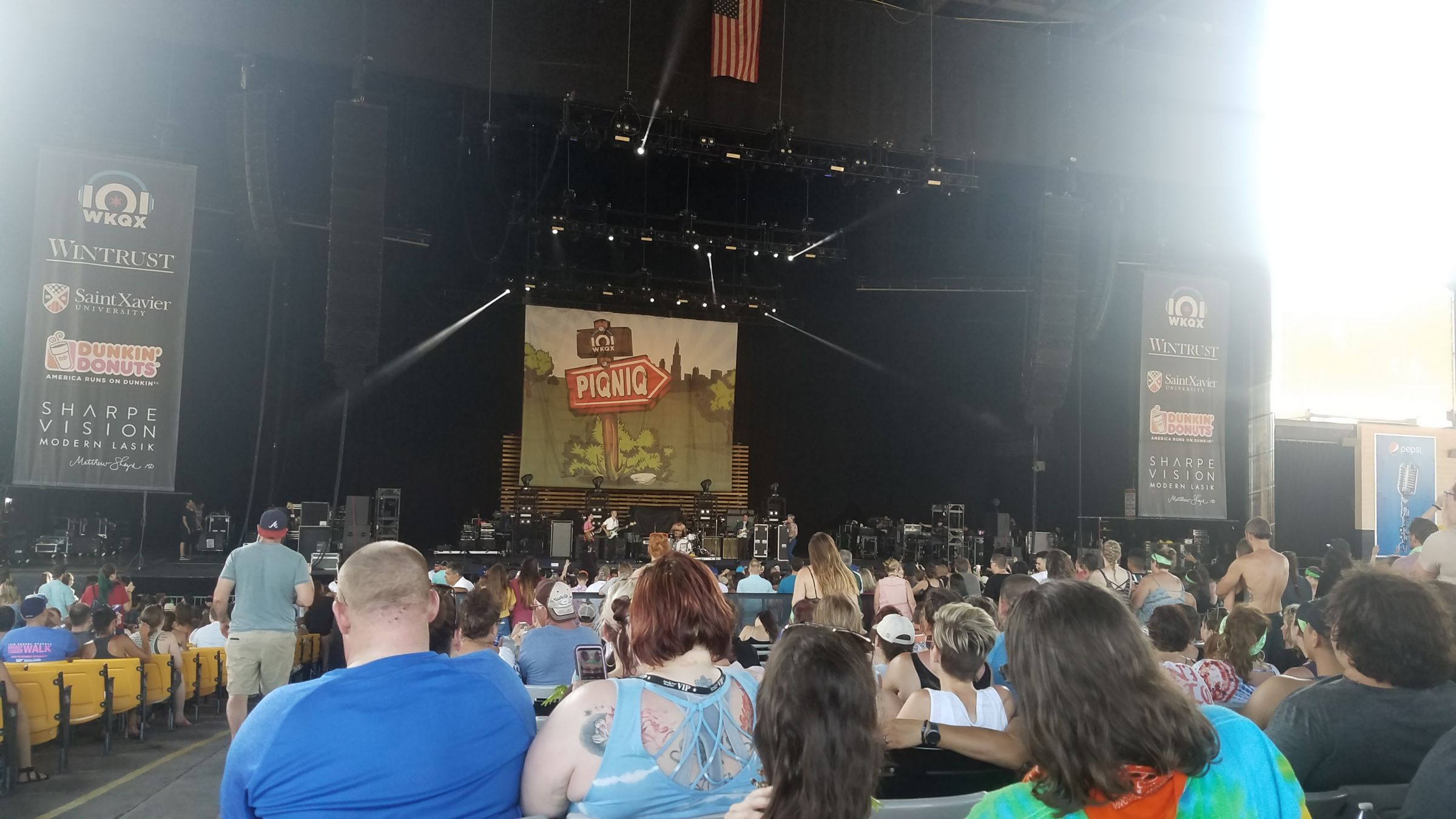 Concert Seat View for Hollywood Casino Amphitheatre Section 103, Row HH, Seat 46