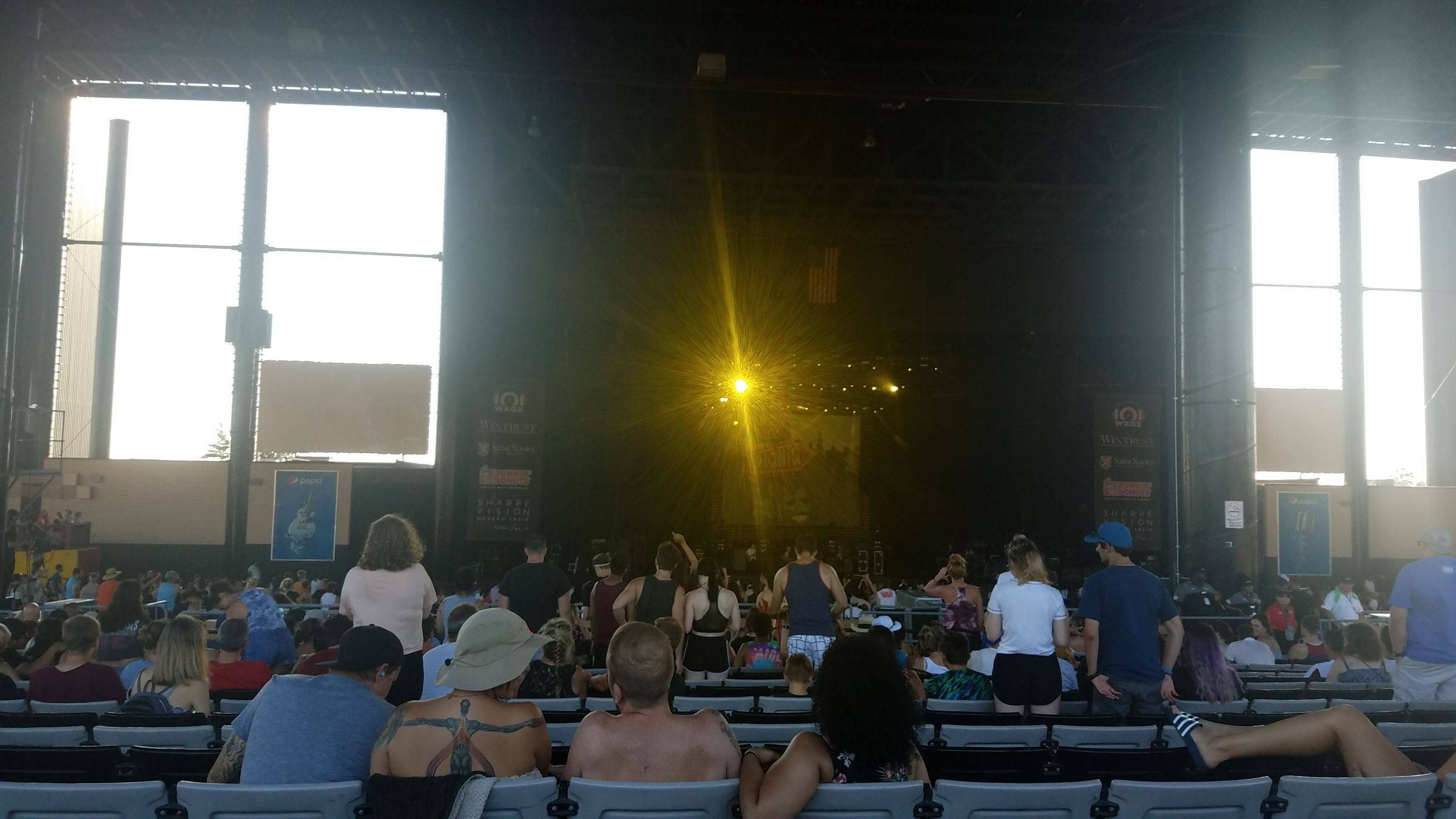 Concert Seat View for Hollywood Casino Amphitheatre Section 205, Row BBB, Seat 56