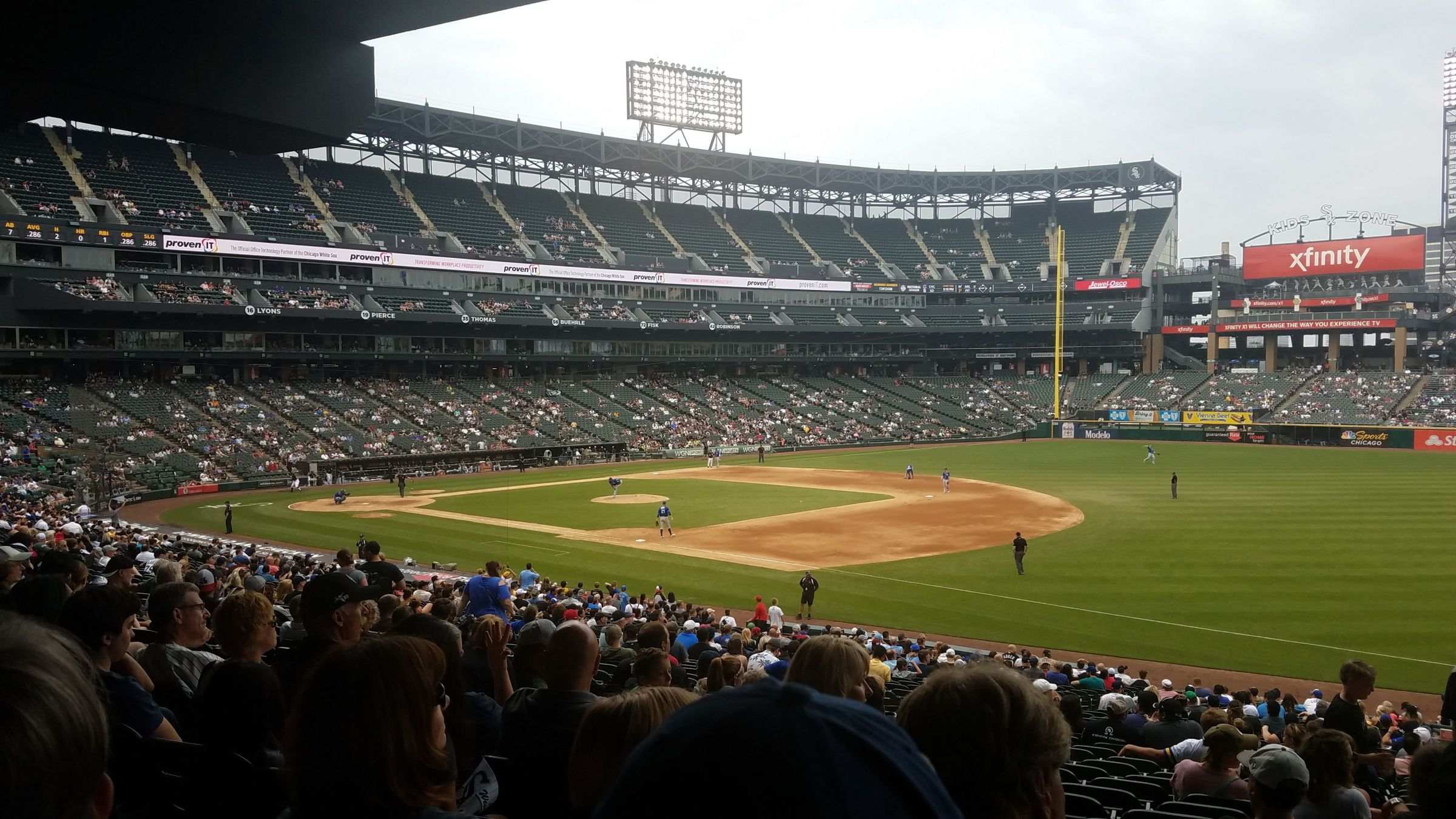 Seat View for Guaranteed Rate Field Section 117, Row 37