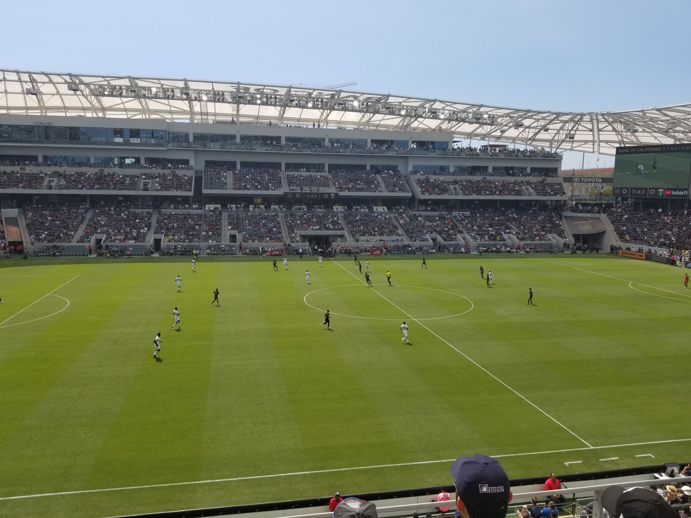 Seat View for Banc of California Stadium Mezzanine 4, Row C, Seat 10