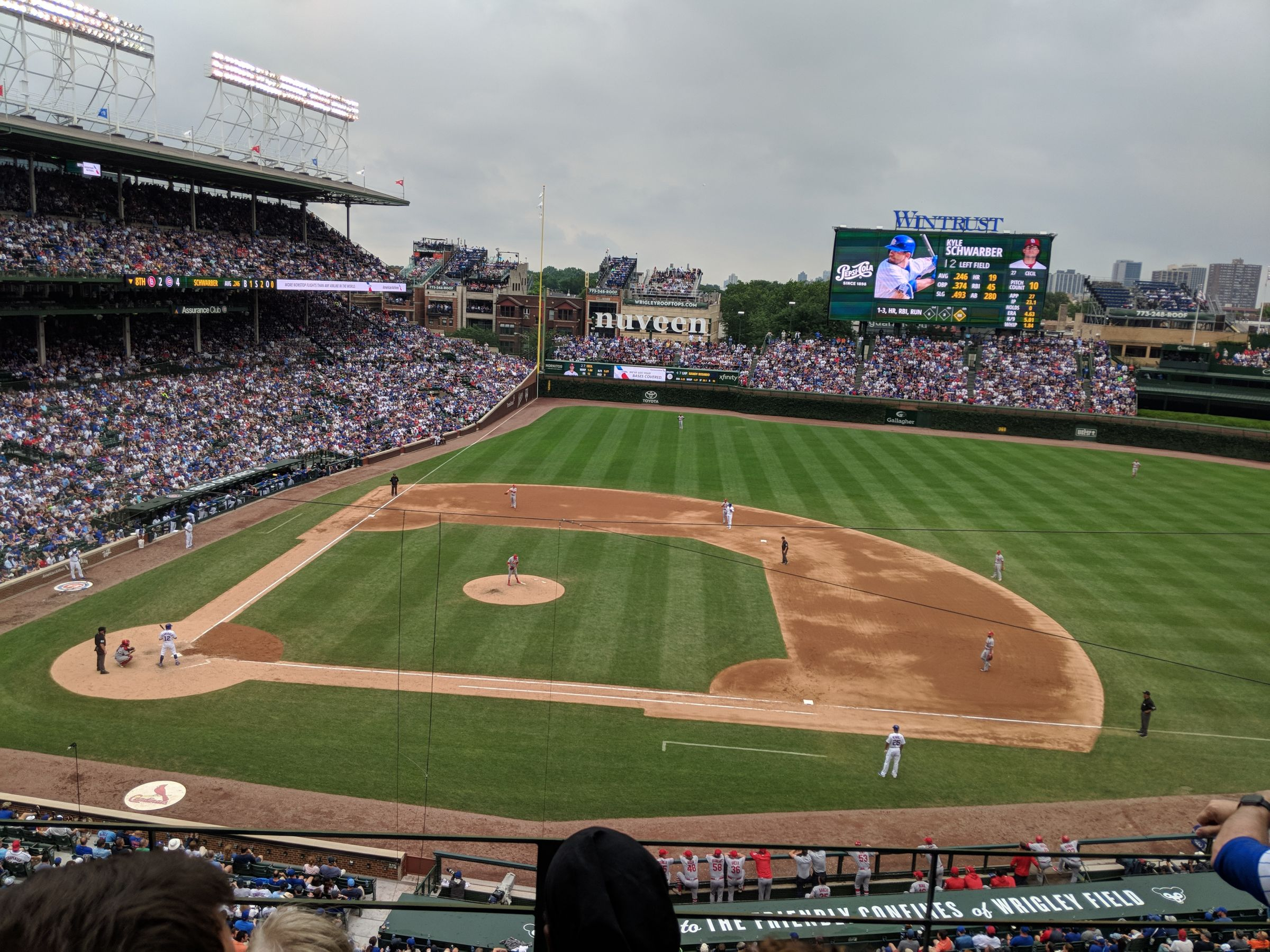 Seat View for Wrigley Field Section 324, Row 3, Seat 3
