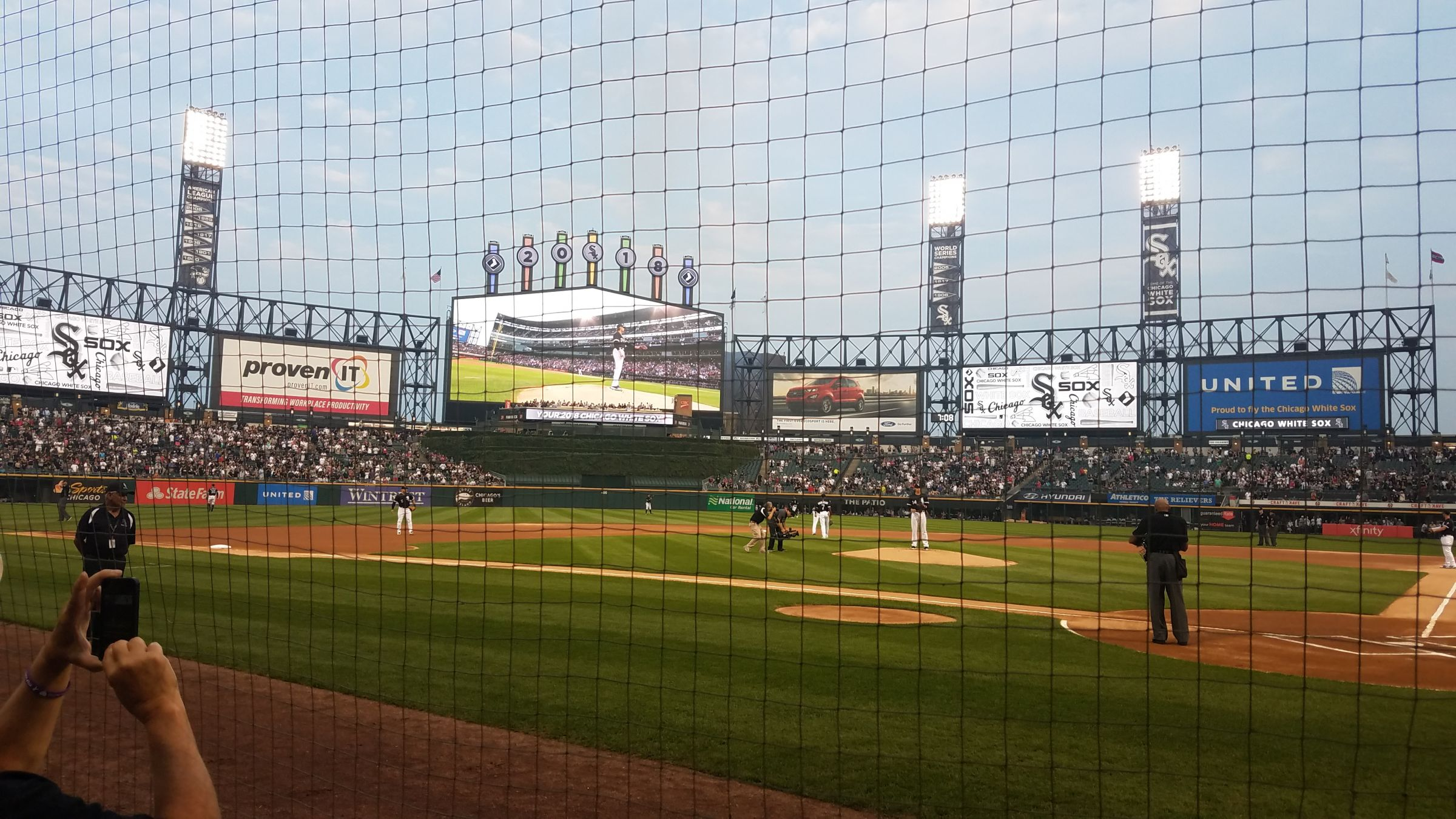 Seat View for Guaranteed Rate Field Section 135, Row 2, Seat 4